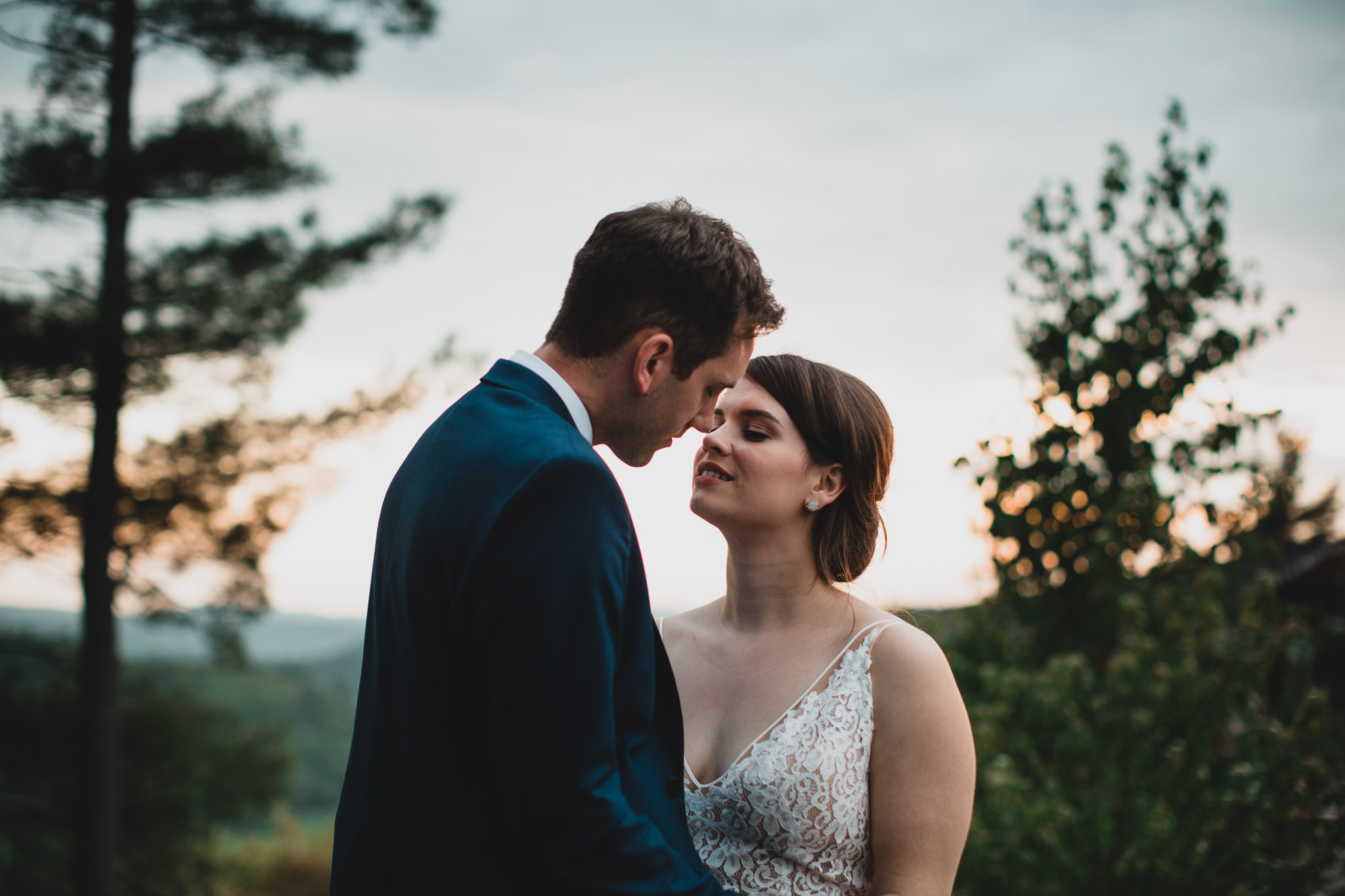 Sunset at Belvedere Wedding Venue