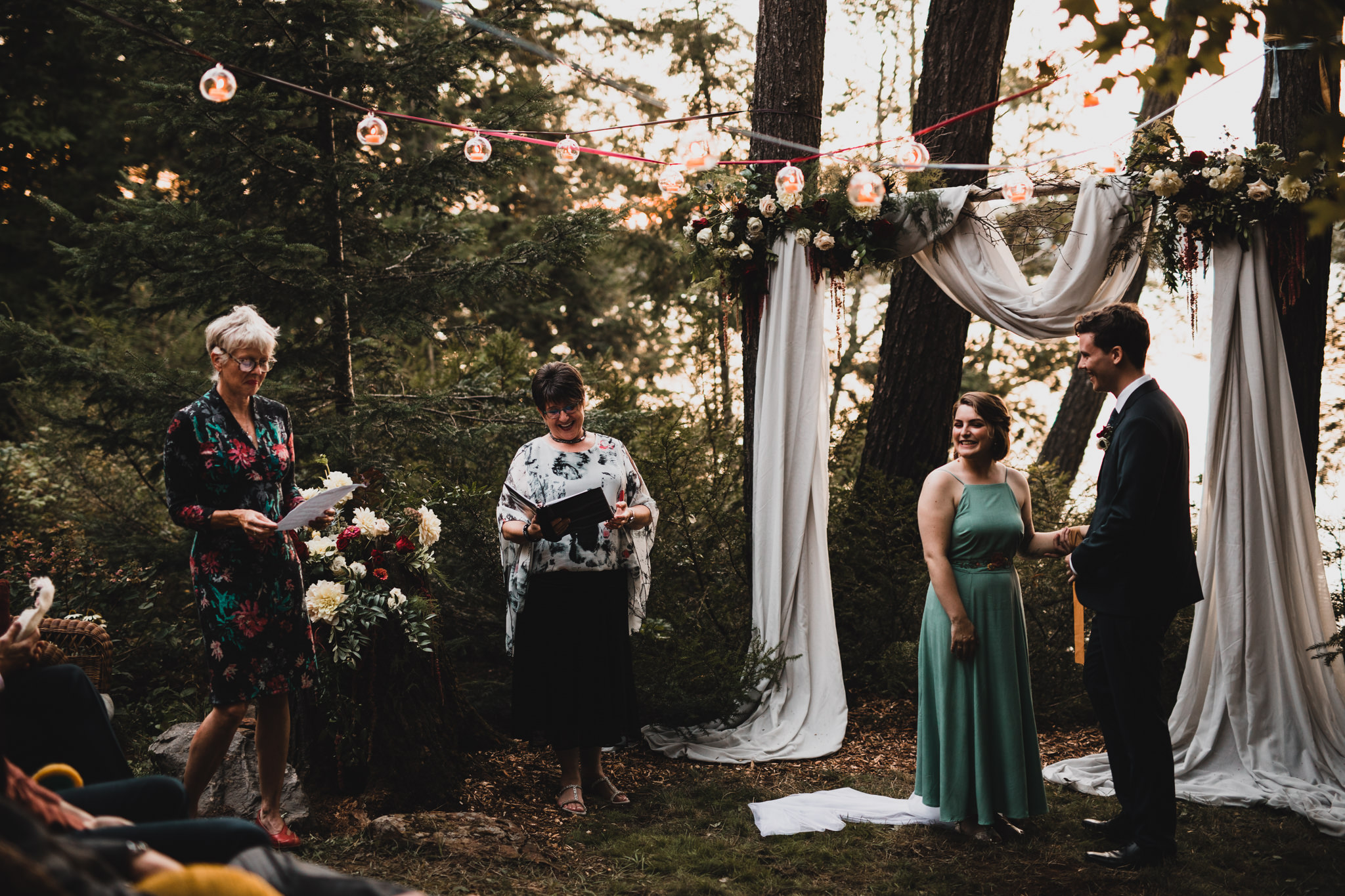 Hand-tying wedding ceremony