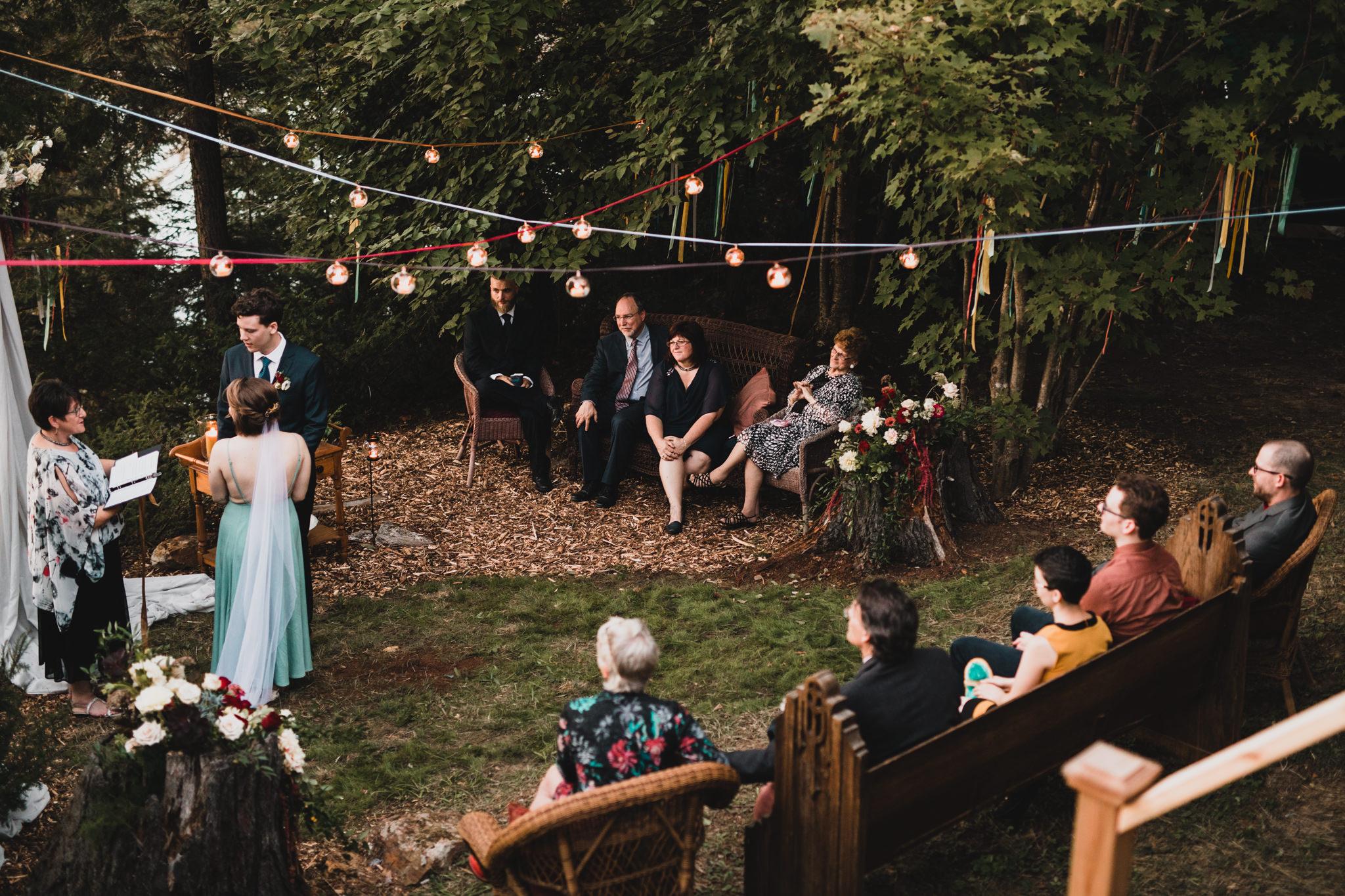 Boho, sunset wedding