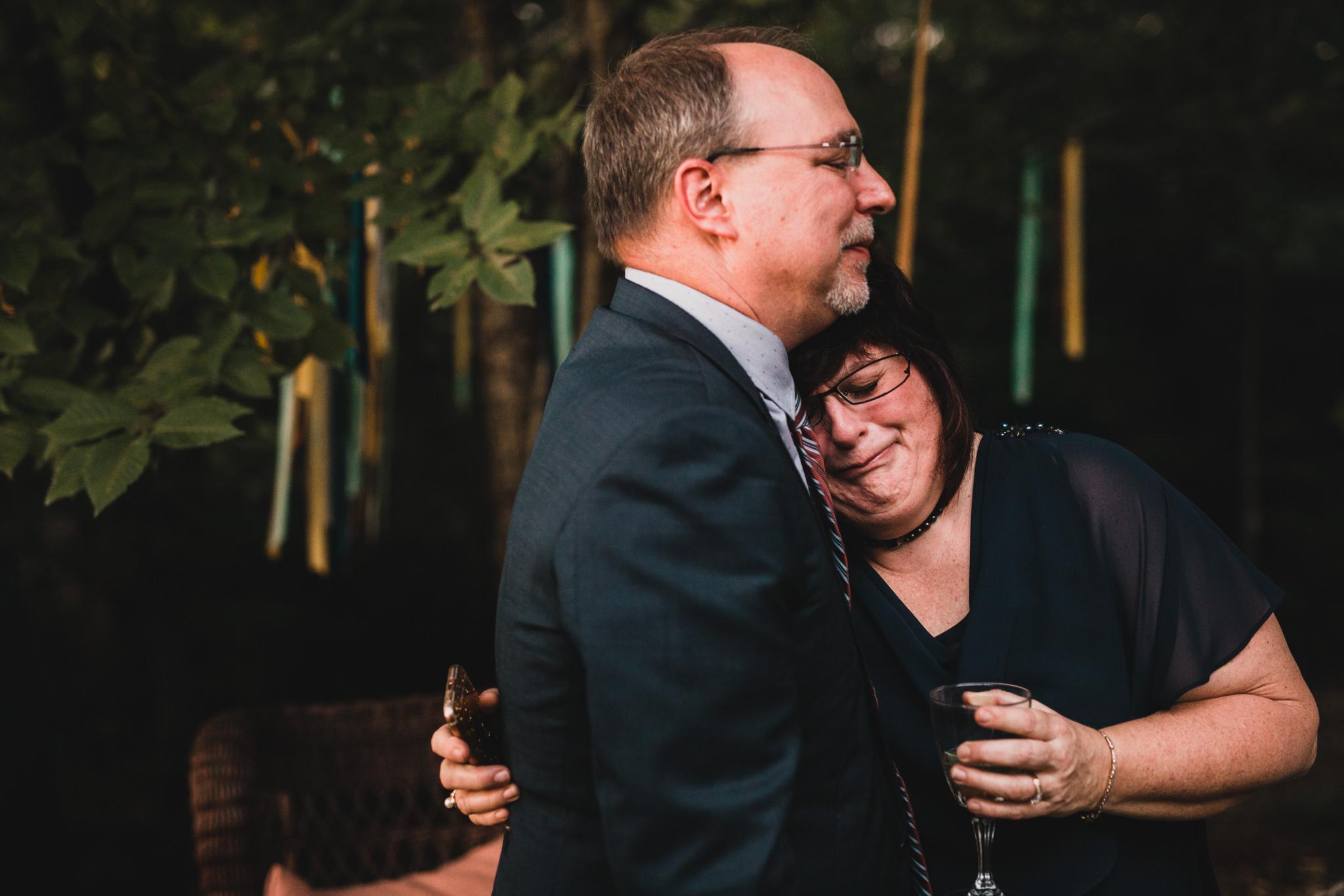 Intimate, candid wedding moments