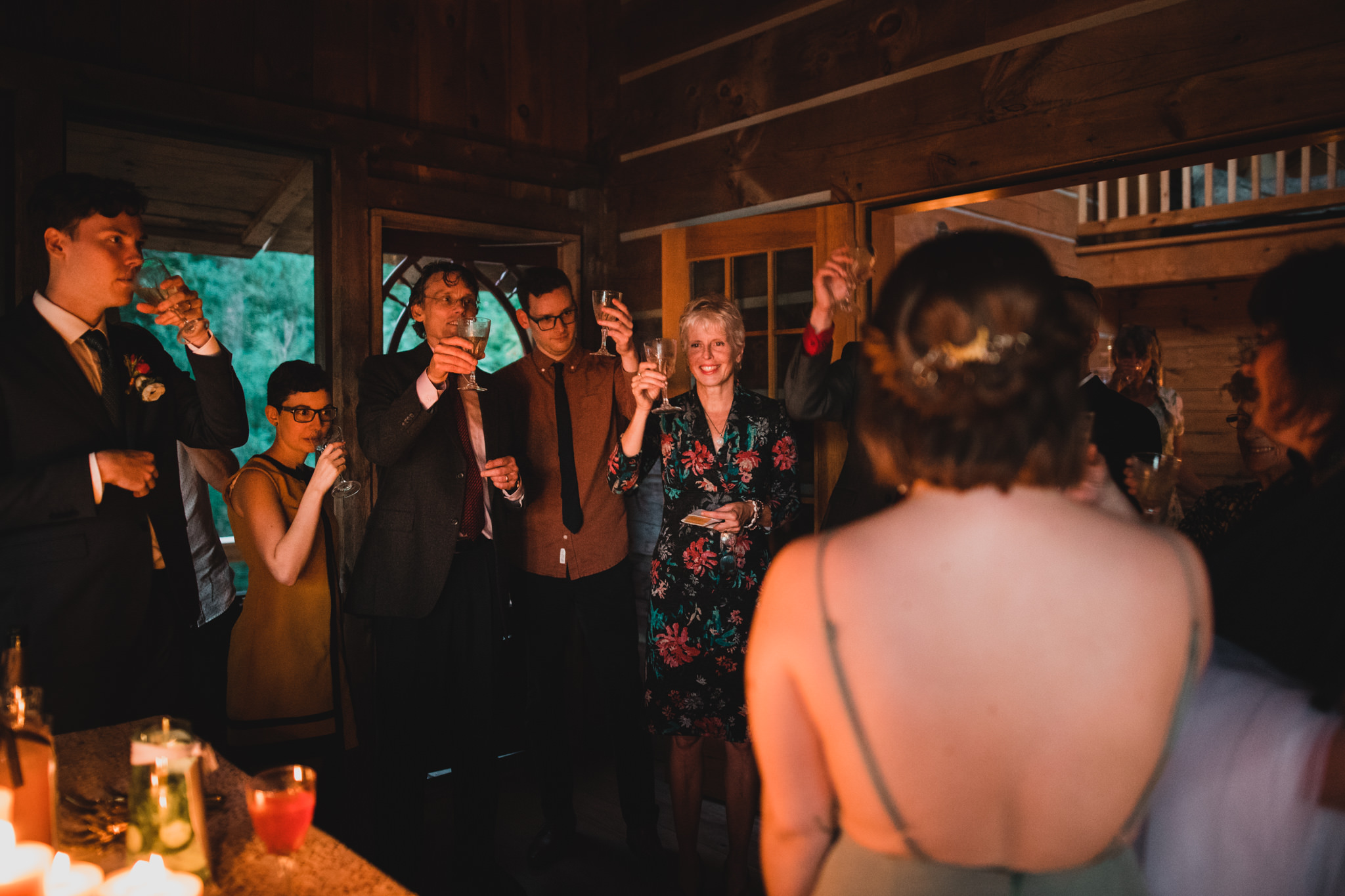 Champagne Toast at Wedding, Intimate