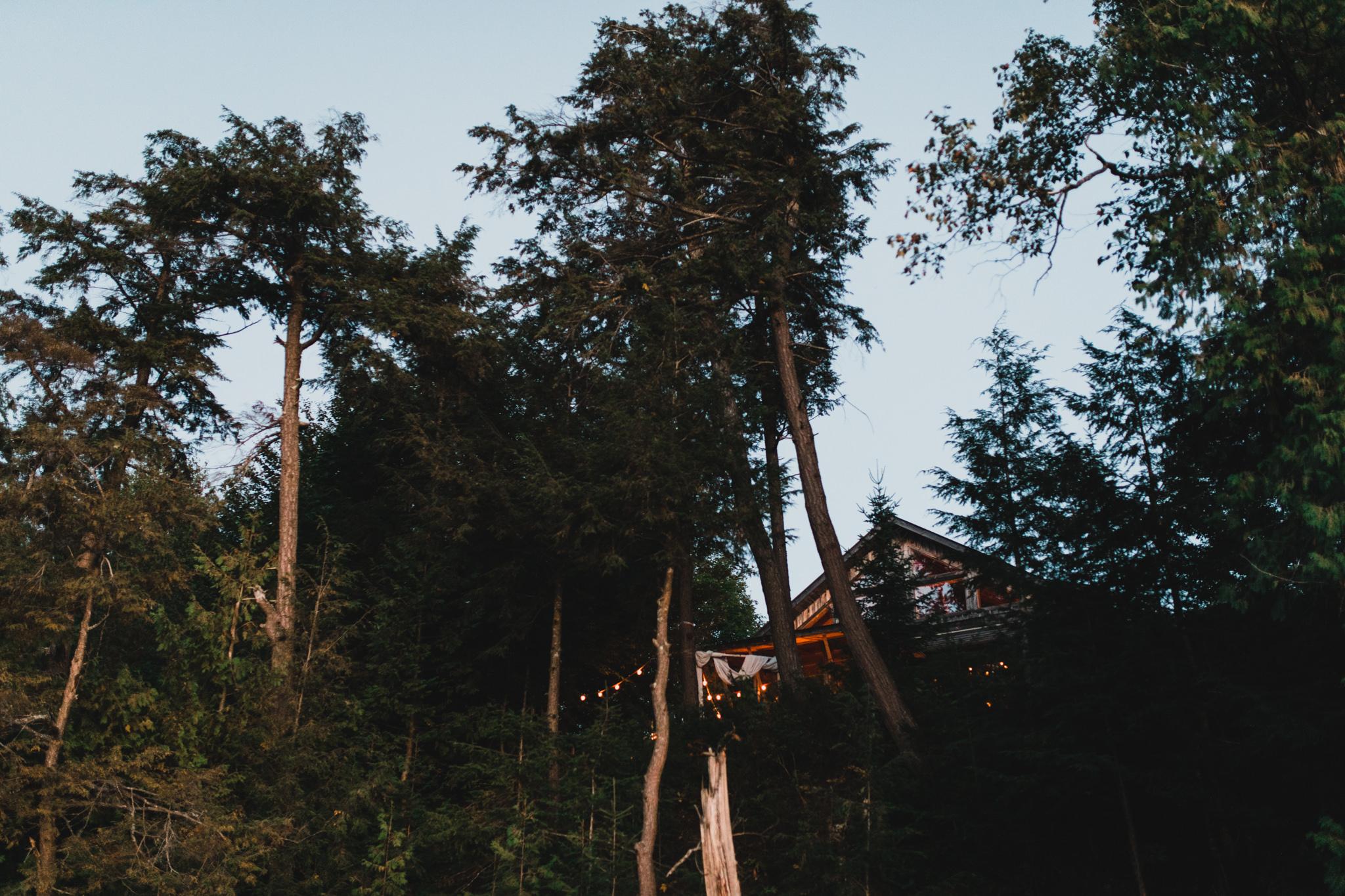 Intimate, cottage wedding