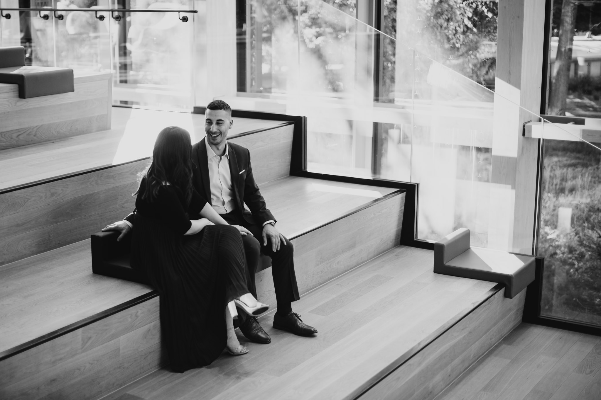 Downtown Engagement Session, Indoor, Ottawa
