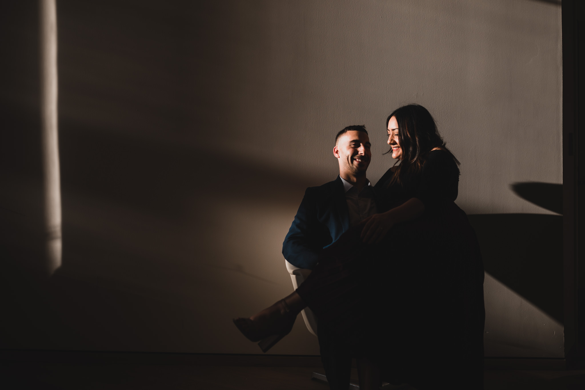 Moody engagement photographer, Ottawa
