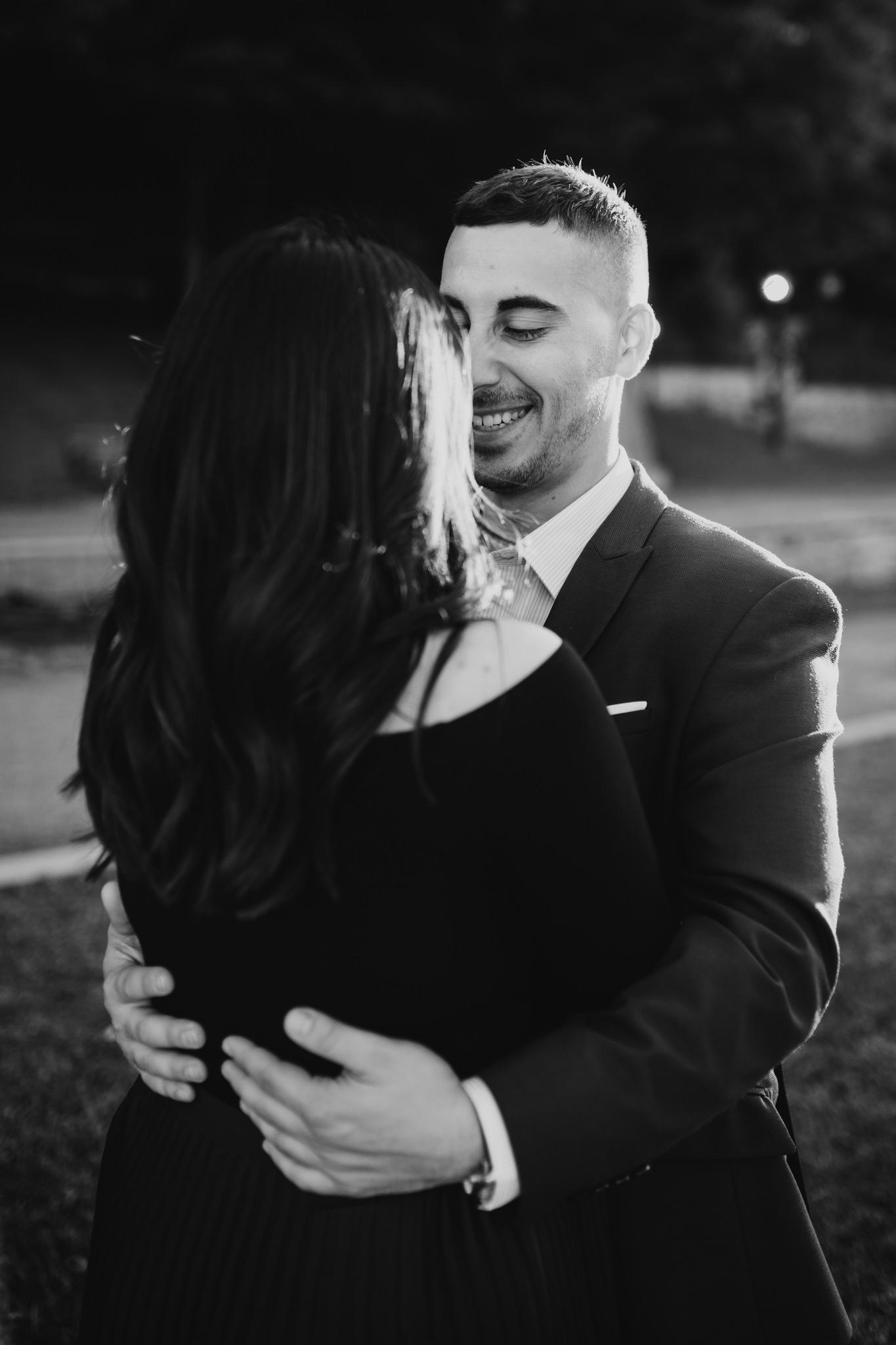 Classy, romantic, moody wedding and engagement portraiture