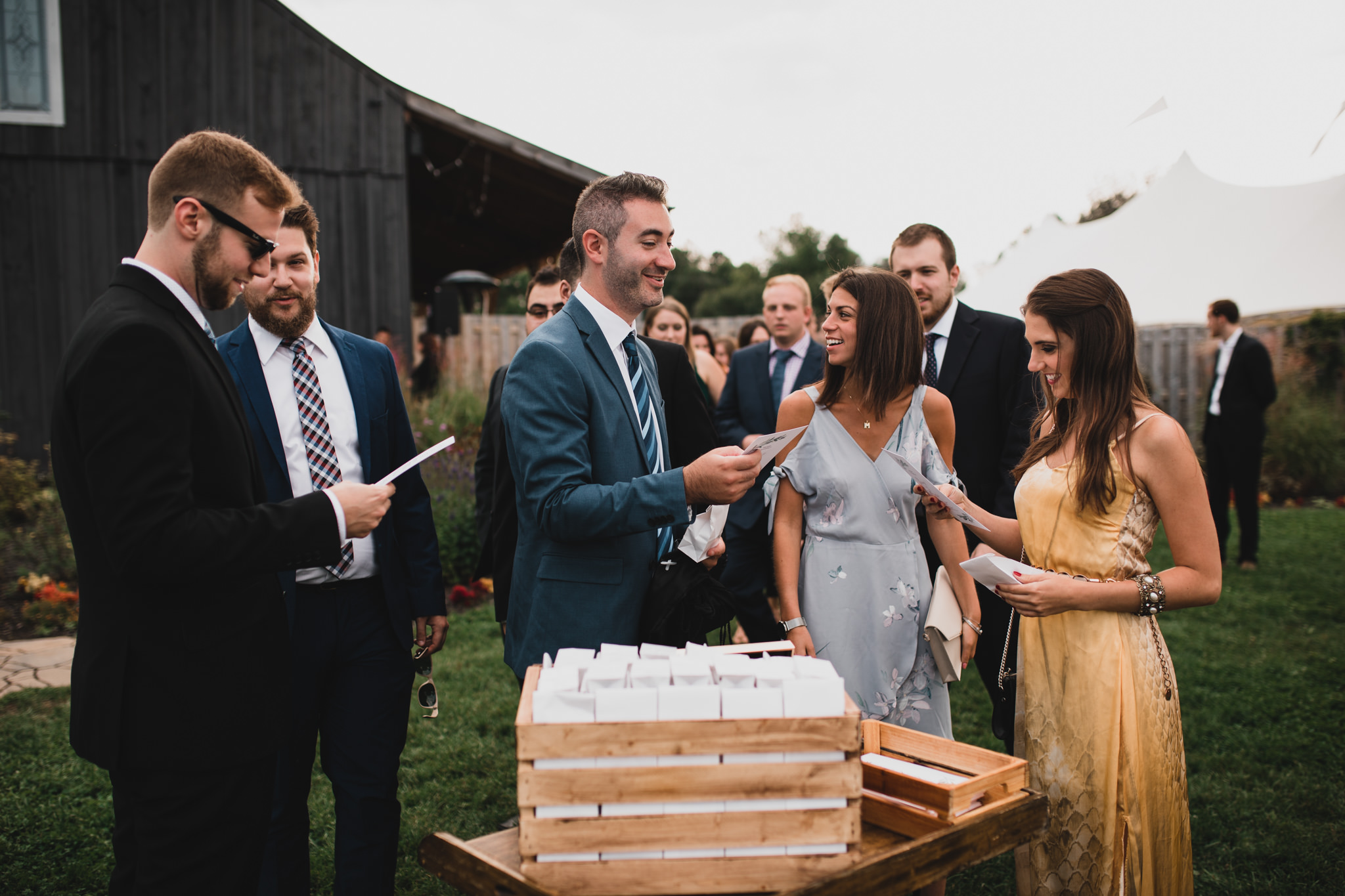 Confetti bags for wedding ceremony