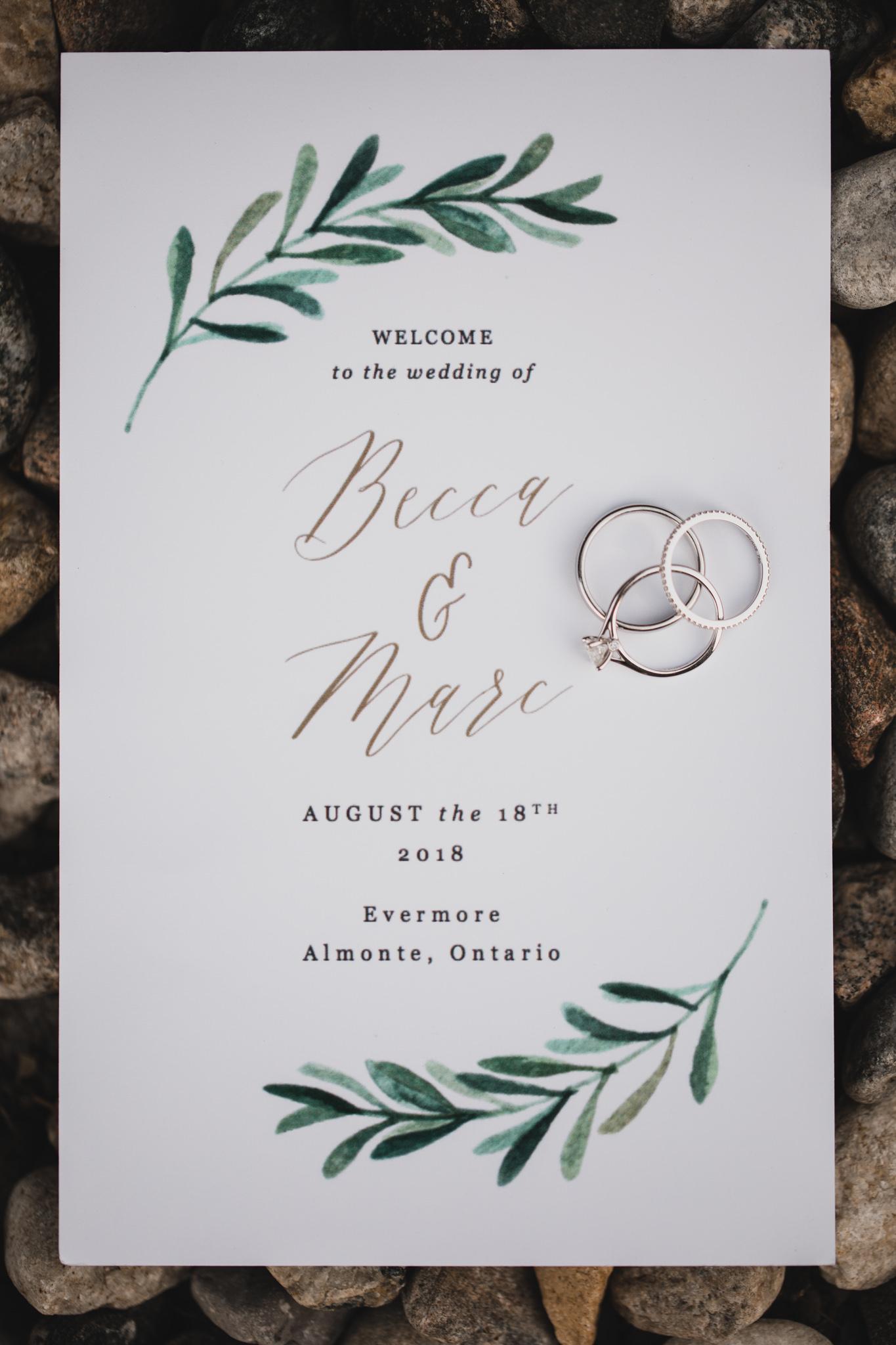 Minimalist, watercolour wedding invitation