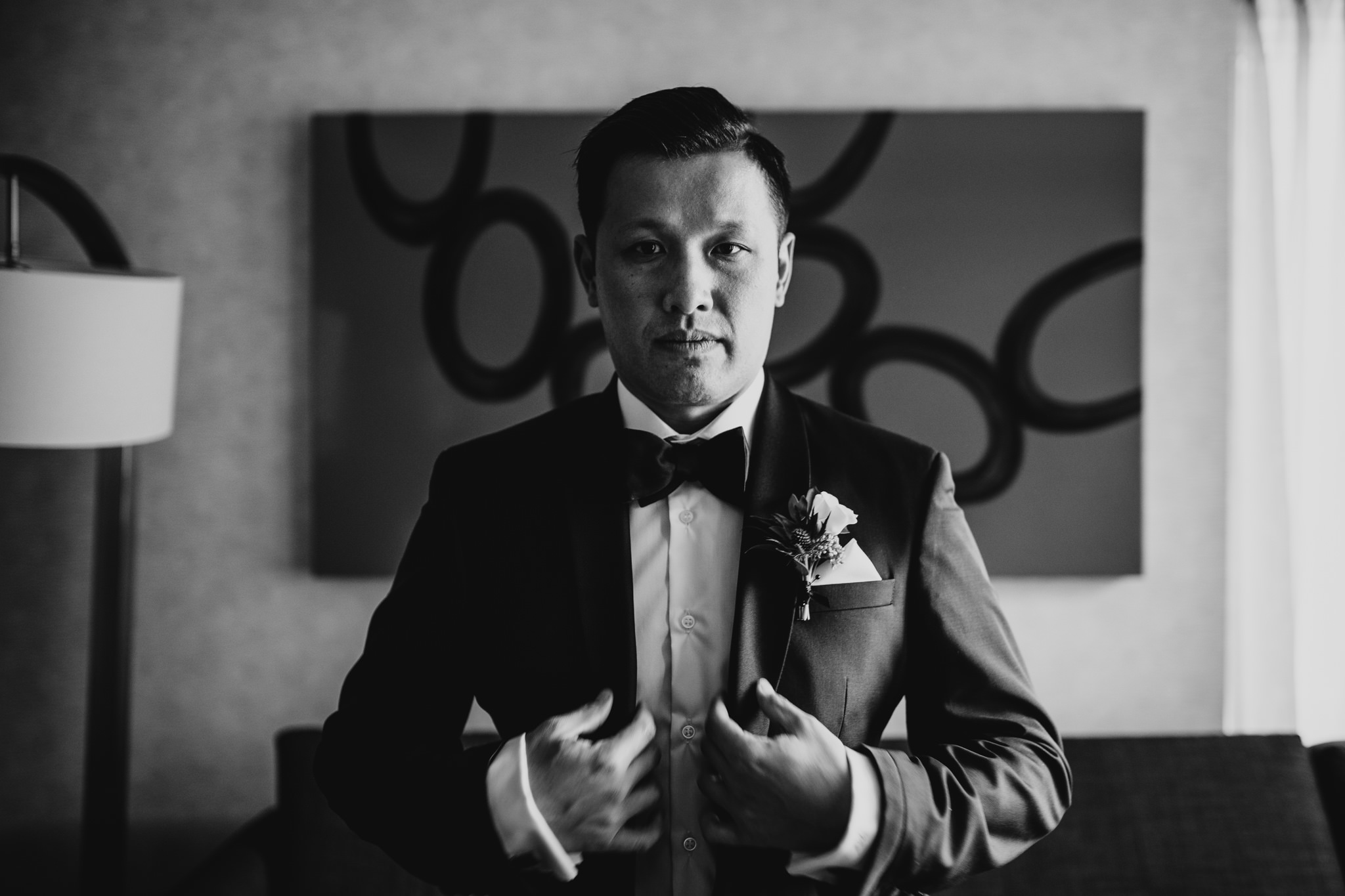 Classy, black and white wedding photos