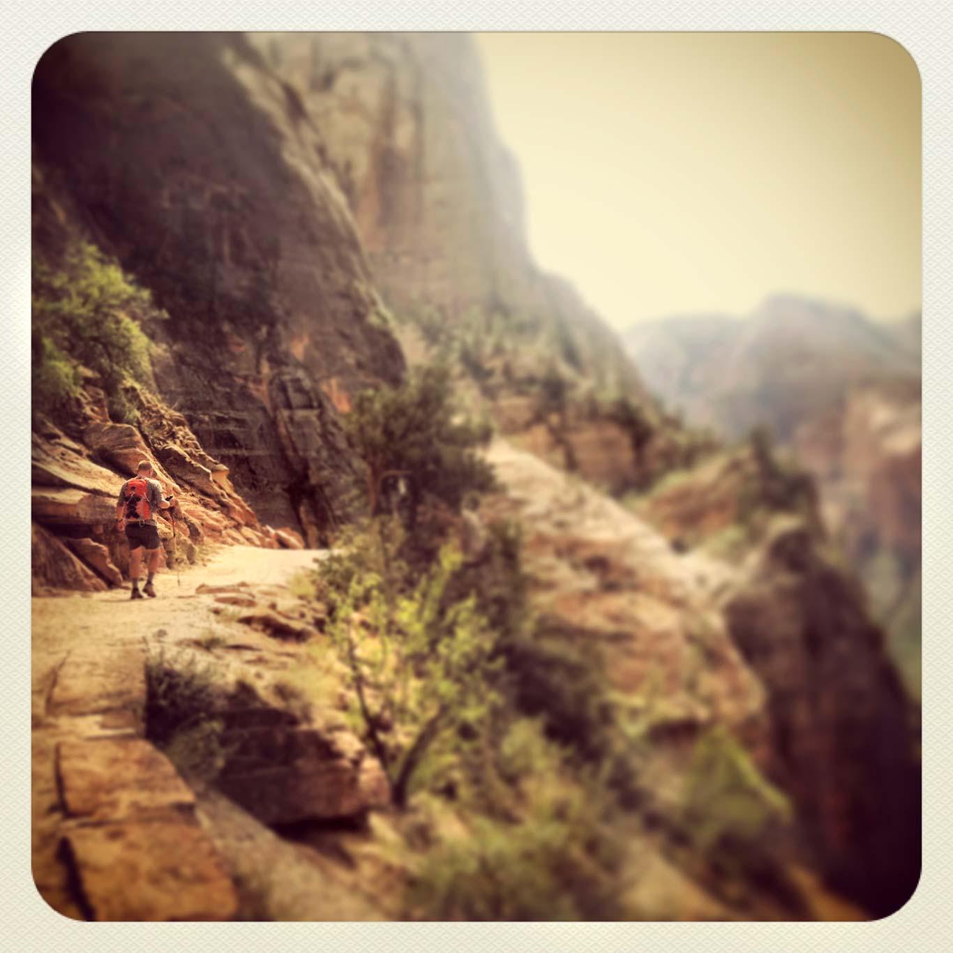 Hiker, Zion National Park