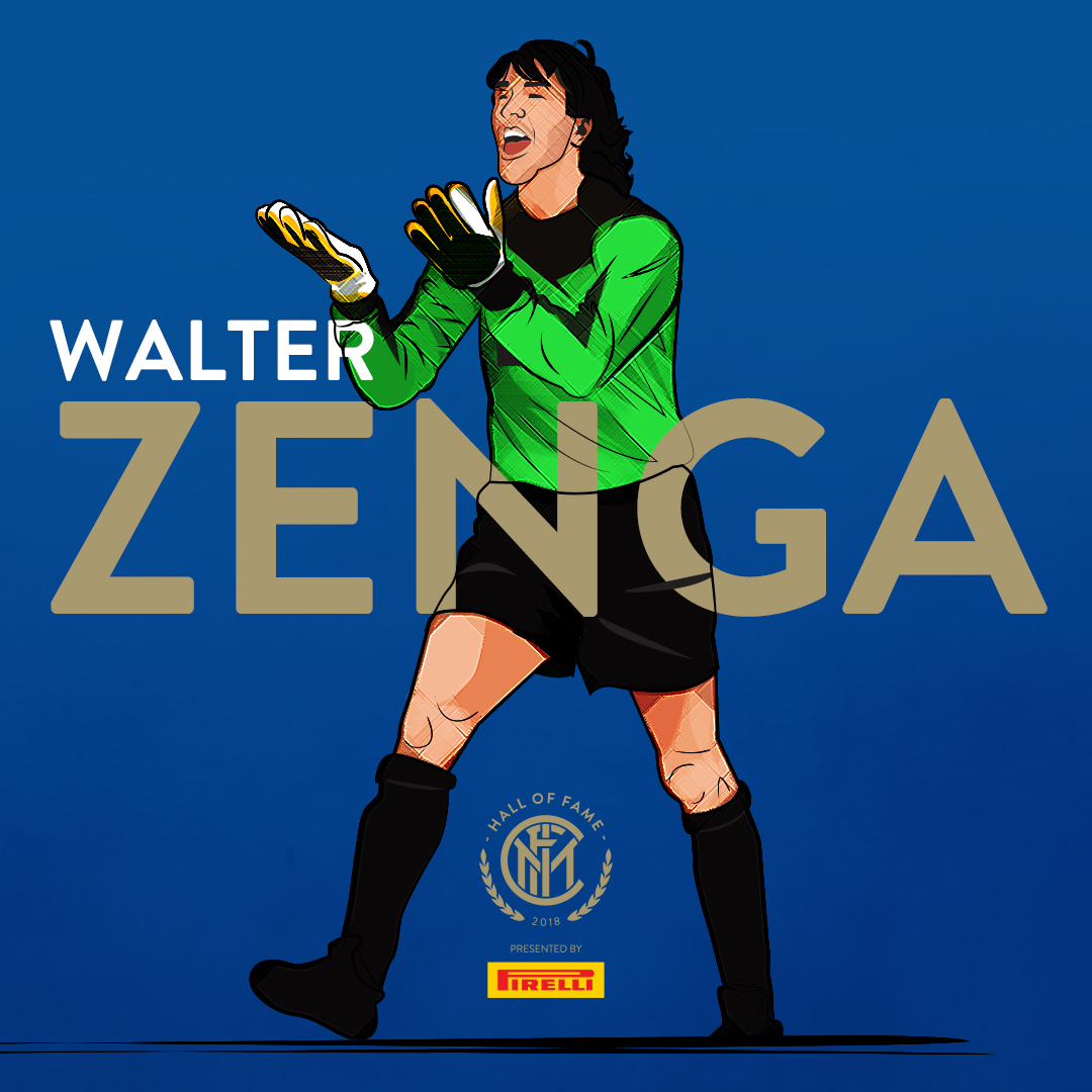 WALTER ZENGA   He was a long-time  goalkeeper  for  Internazionale  and the  Italian national team . He also holds  Romanian  citizenship.  During his playing career, Zenga was part of the Italian squad that finished fourth at the  1984 Olympics  in  Los Angeles ,  United States  and was starting goalkeeper for the  Azzurri  team that finished third in the  1990 FIFA World Cup  tournament held in  Italy , keeping a World Cup record unbeaten streak.  A three-time winner of the  IFFHS World's Best Goalkeeper  Award, Zenga is regarded by pundits as one of the best goalkeepers of all time, and in 2013 was voted the eighth best goalkeeper of the past quarter-century by  IFFHS .