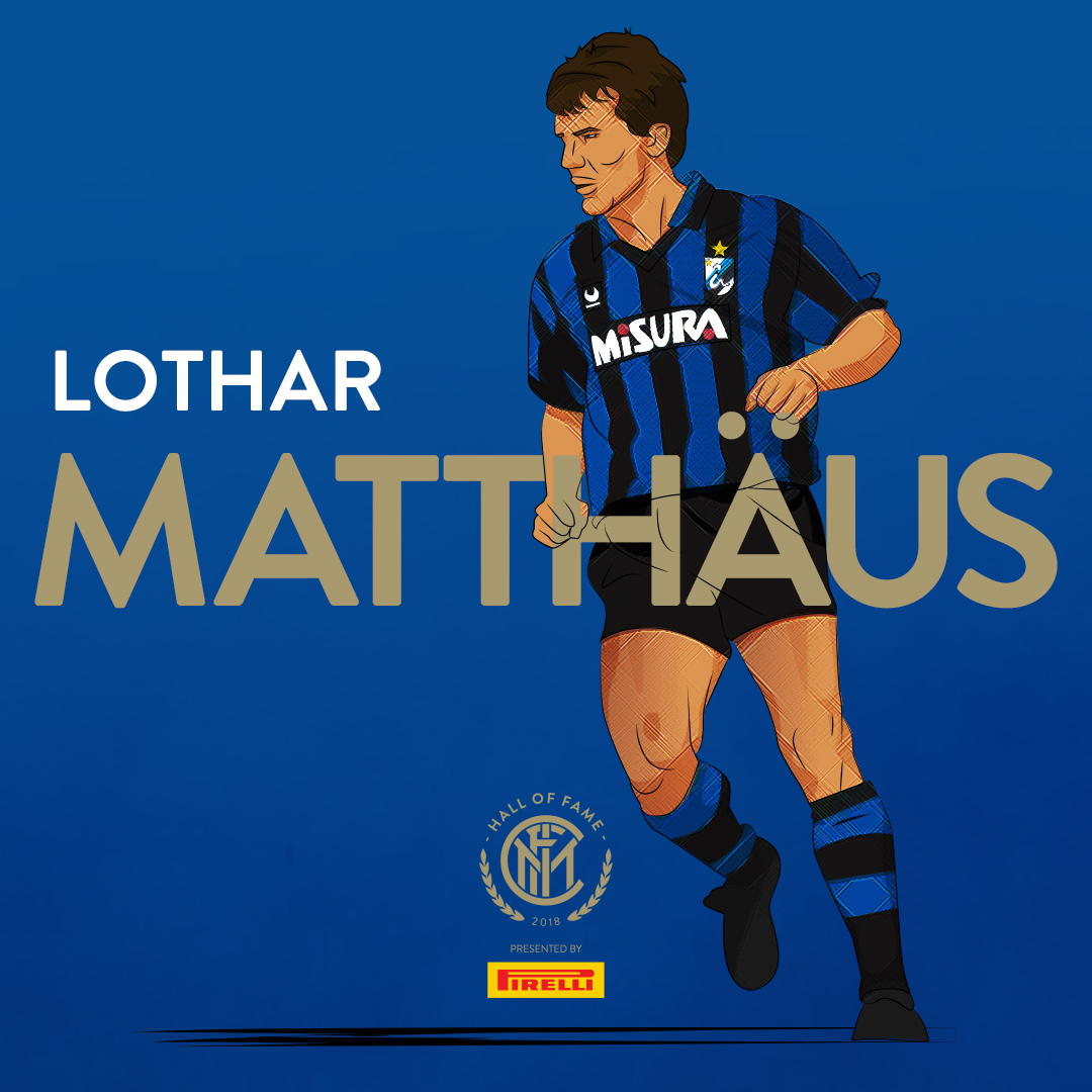 LOTHAR MATTHAUS   Matthäus and Bayern teammate  Andreas Brehme  signed with  Internazionale  of  Serie A  in 1988, winning the  Scudetto  in  1988–89  during their first season, and the  Italian Supercup  that year as well.  Matthäus continued to enjoy further success with Inter, winning the  UEFA Cup  in  1991  and being named  FIFA World Player of the Year . In the final, he scored a penalty in the first leg to help them to their victory over  Roma . Returning to  Bayern Munich  in 1992, he won four Bundesliga titles, two DFB-Pokals, another UEFA Cup and reached a second  European Cup  final in  1999 .