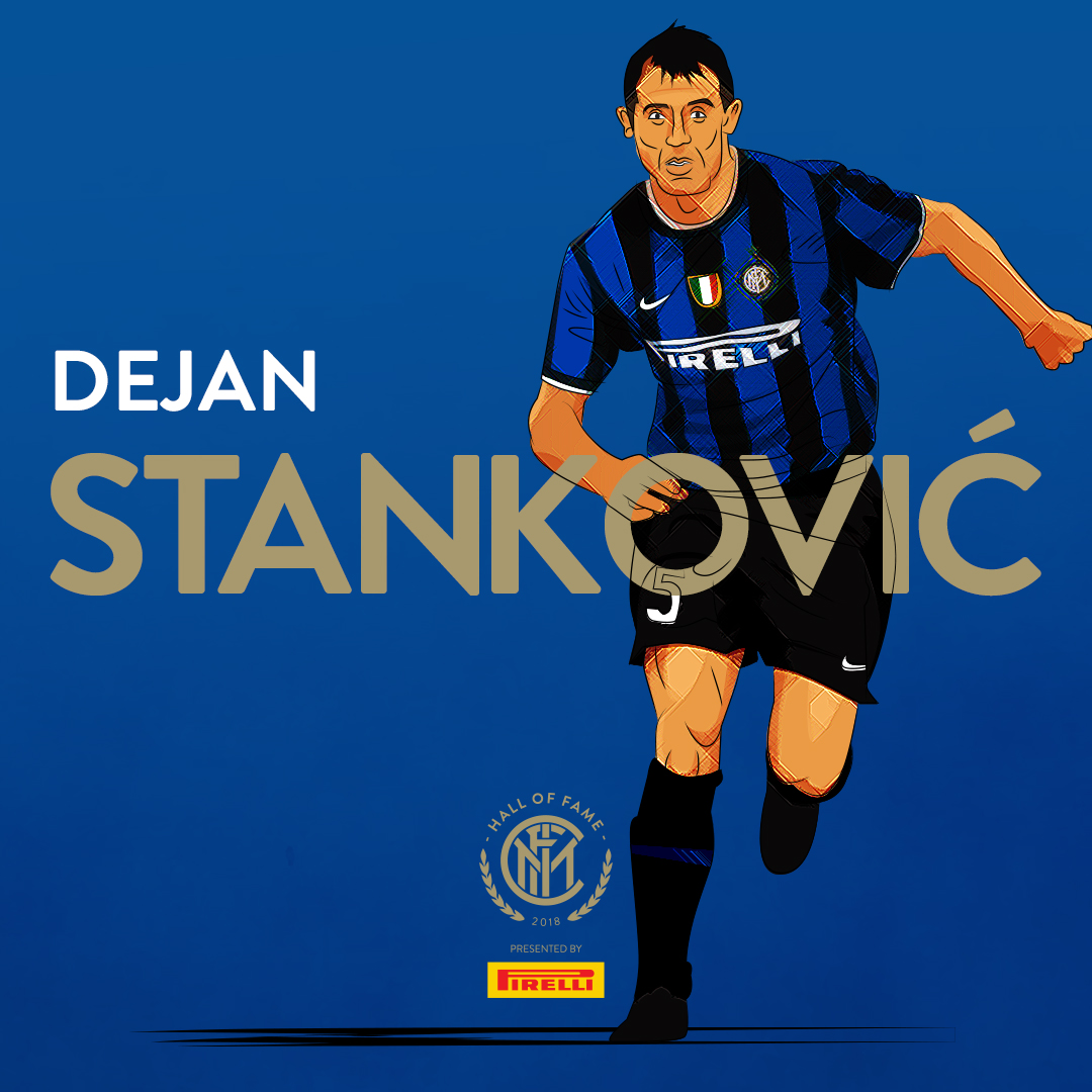 DEJAN STANKOVIC   In early February 2004, Stanković played his debut for Inter under head coach  Alberto Zaccheroni , a Serie A clash at home against  Siena  that ended 4–0. On 21 February 2004, he scored a spectacular goal directly from a corner kick to put Inter 1–0 up in   Derby della Madonnina   versus fierce rivals  Milan . Inter finished the league season in fourth place thus qualifying for Champions League.  He went on to have a distinguished career at Inter, winning 5 leagues, 4 Coppa Italias, 4 Supercoppa Italias, the Champions League and the World Club Cup (both in 2010).