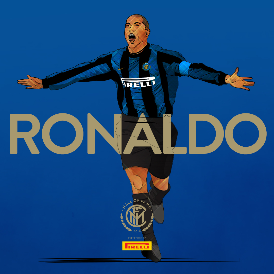 """RONALDO    Ronaldo Luís Nazário de Lima , commonly known as  Ronaldo , is a retired Brazilian professional  footballer  who played as a  striker . Popularly dubbed  """"O Fenômeno""""  (The Phenomenon), he is widely considered to be one of the greatest football players of all time.  In his prime, he was known for his  dribbling  at speed,  feints , and clinical finishing.   Inter Milan  signed him in the summer of 1997 for  a then world record fee of $27 million , making him the second player, after  Diego Maradona , to break the world transfer record twice.  Ronaldo adapted to the Italian style of the game in his first season, finishing second on the league's scoring charts. Ronaldo started to develop into a complete forward. He began racking up assists, became first-choice penalty taker, taking and scoring freekicks. During his time with Inter, he scored several goals against city rivals  A.C. Milan  in the  Derby della Madonnina . He won  FIFA World Player of the Year  for the second time in 1997, and collected the  Ballon d'Or  the same year."""