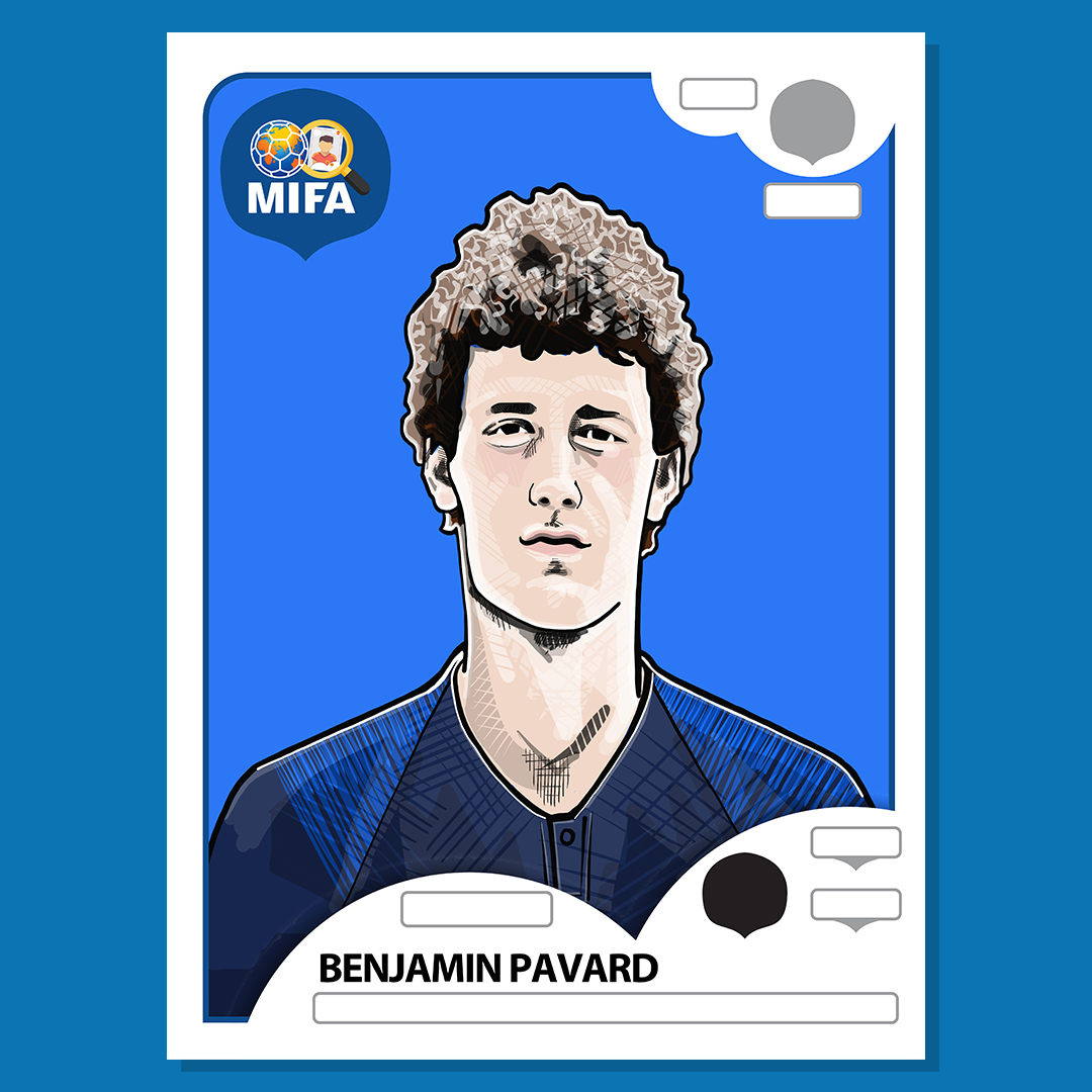 Benjamin Pavard- France - by Gavin Hall @hallyink