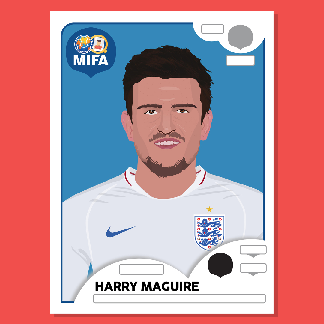 Harry Maguire - England - by Bradley Baker @BakerDesigns_
