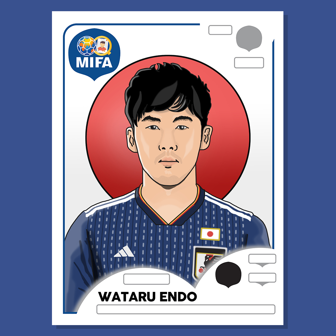 Wataru Endo - Japan - by Luke Williamson @LtWilliamsonArt