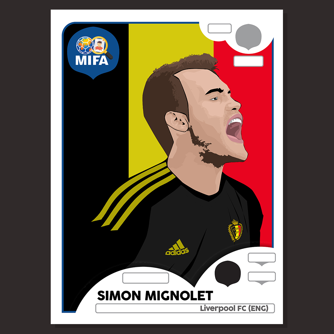 Simon Mignolet - Belgium - by Yaro Broothaers @HonouredDesign