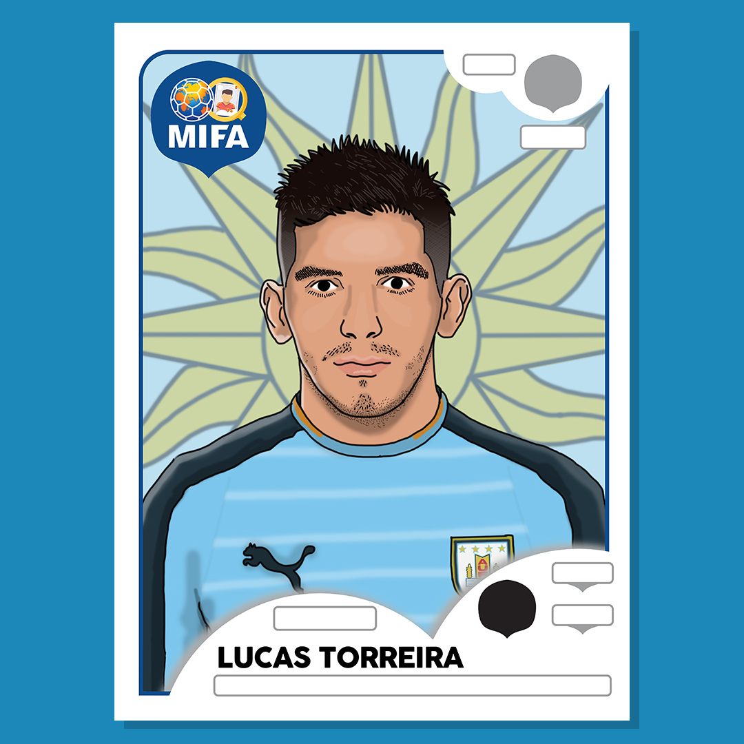 Lucas Torreira - Uruguay - by Luke Williamson @LtWilliamsonArt