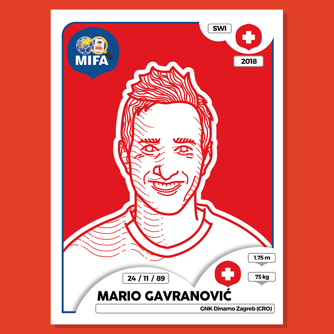 Mario Gavranovic - Switzerland - by Scott Salvage @thegraphicdesignstudent