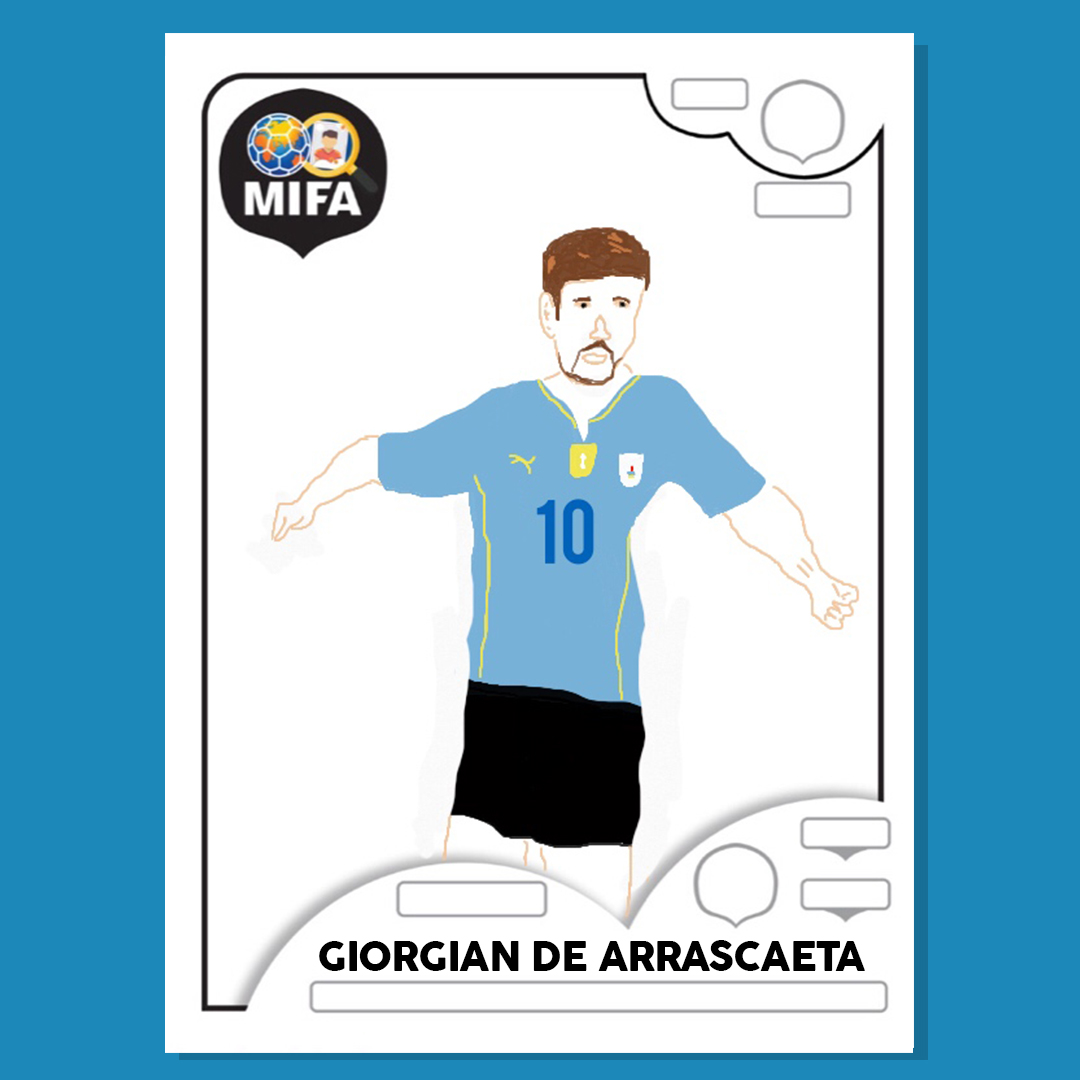 Giorgian De Arrascaeta - Uruguay - by David Llewellyn @DavidWilliam77