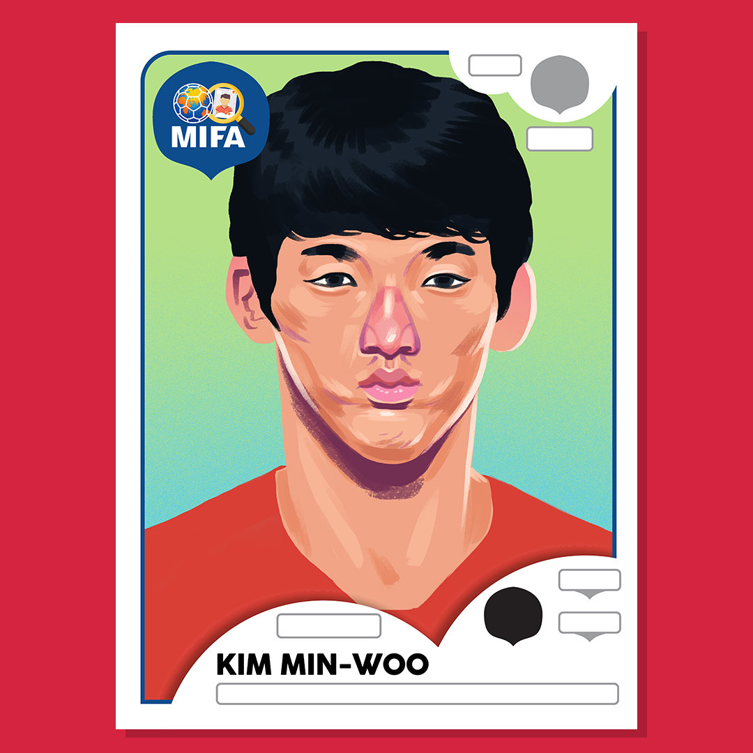 Kim Min-woo - South Korea - by Dan Evans @Dan_Draws