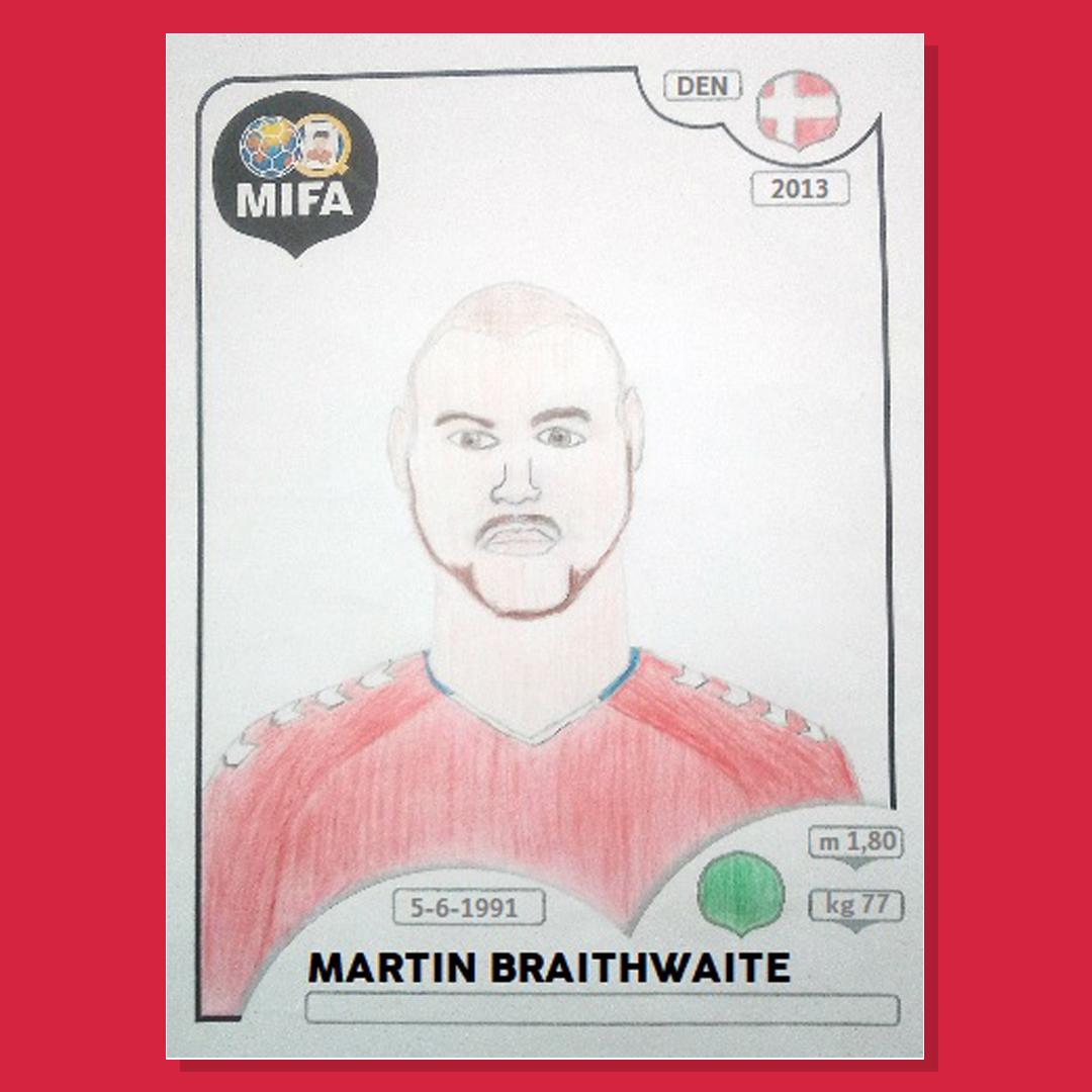 Martin Braithwaite - Denmark - by Gonçalo Pereira