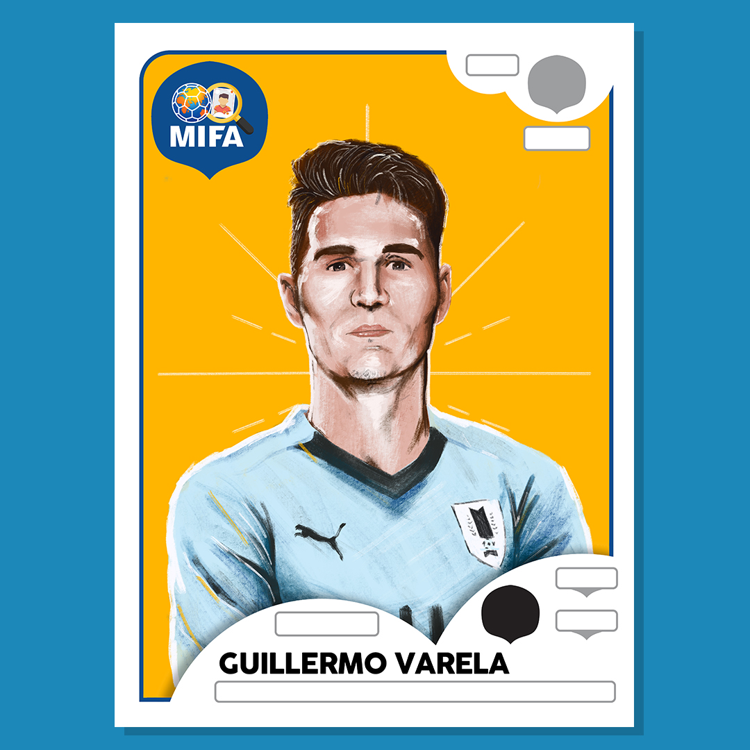Guillermo Varela - Uruguay - by Will Peers @willpeersart