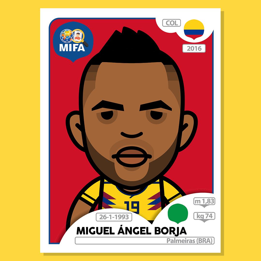 Miguel Borja - Colombia - by Ludzik @ludzikone
