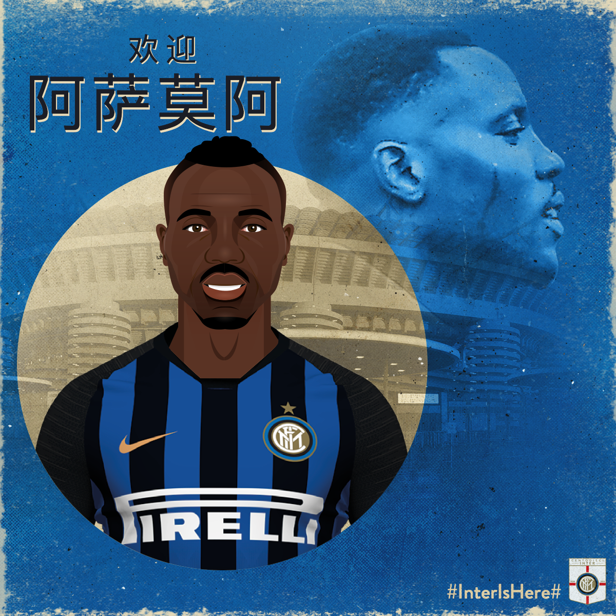 Kwadwo Asamoah    Signed on a free transfer from Serie A champions Juventus, Asamoah brings great quality to the Inter back line, plus experience at the highest level.