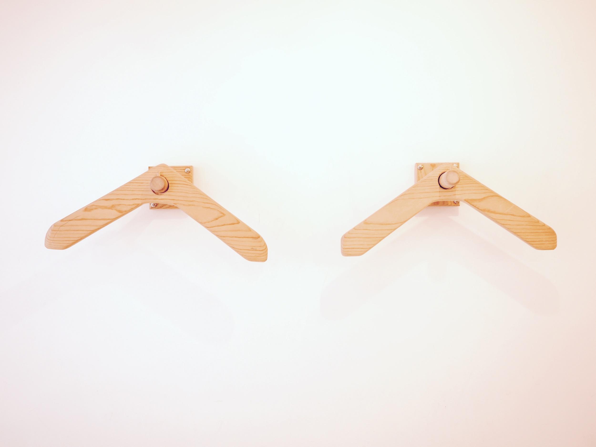 Wooden Wall Hangers by Non Matsuura