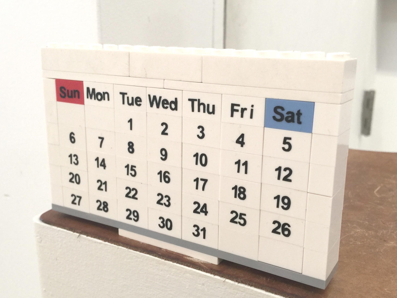 LEGO Calendar by Non Matsuura