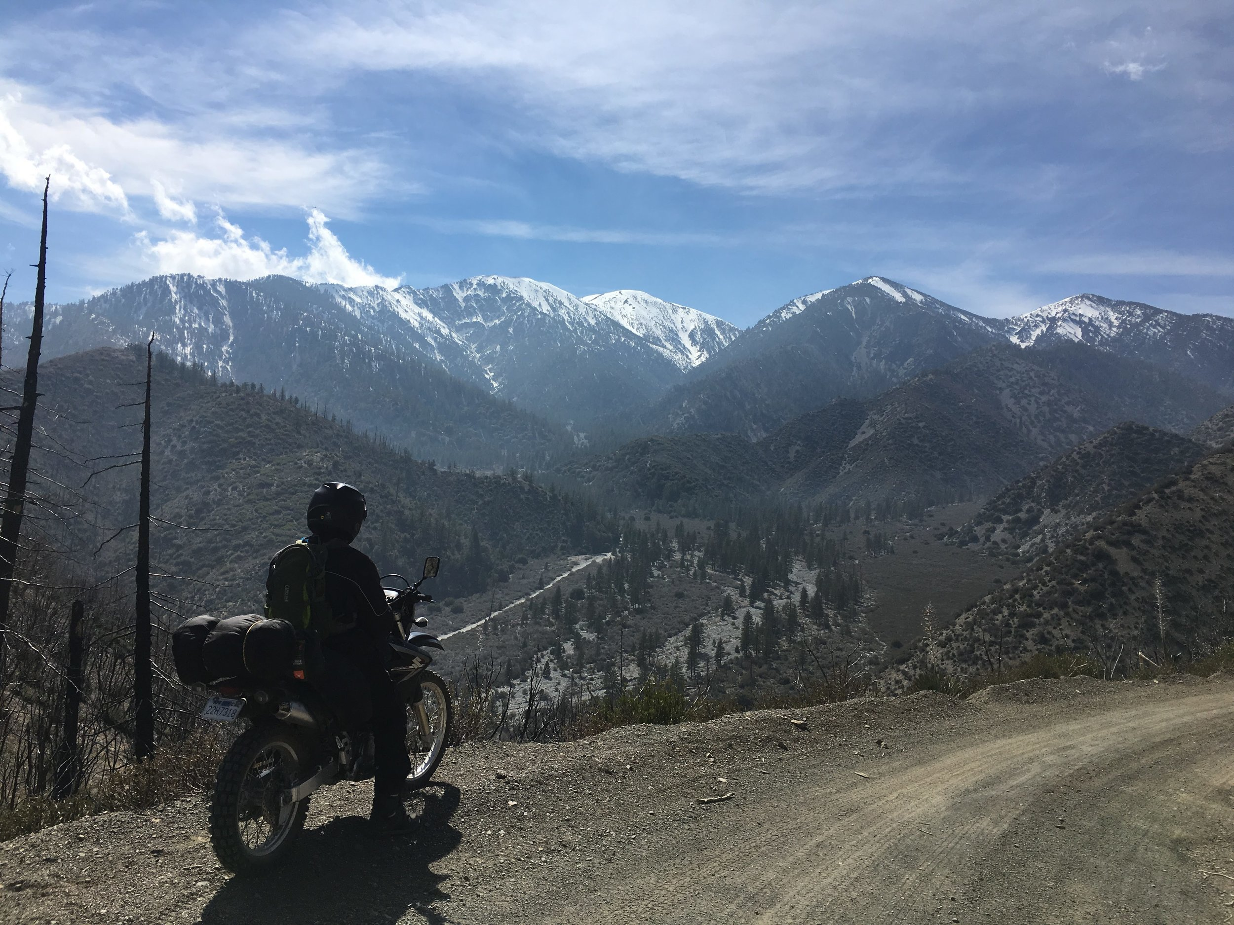 Motorcycle weekend trip with my son, April 2019.