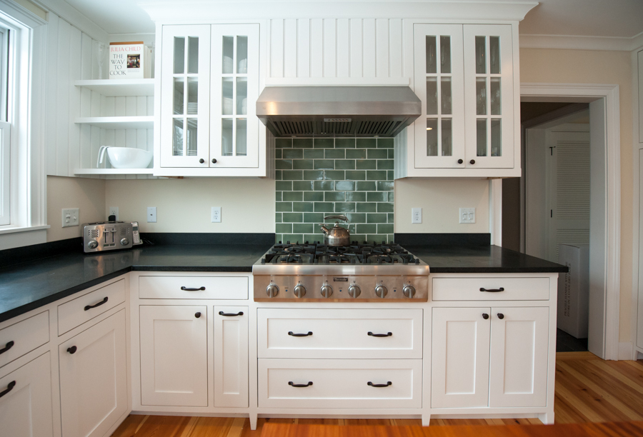 Custom kitchen cabinets.