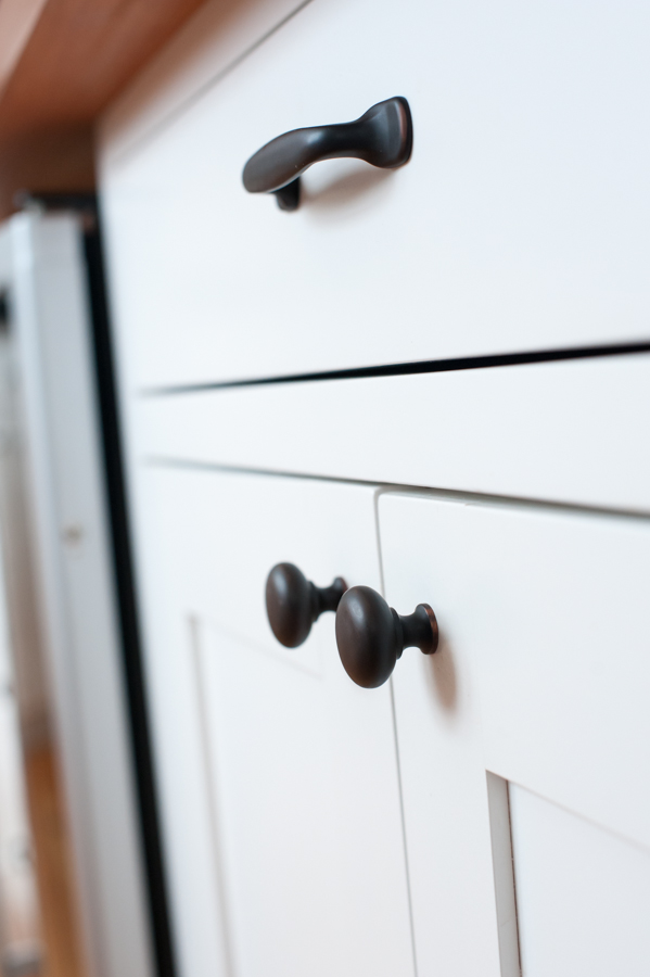 Kitchen cabinet detail.