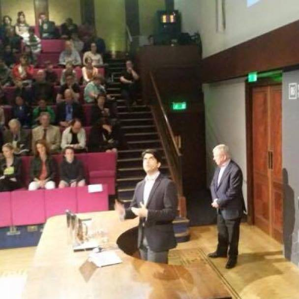 Spoke at the historic Royal Institution last night about #TheWaterBook, with the legendary Lawrence McGinty running Q&A afterwards. My story went from Antarctica and the Southern Ocean to biological cells and exoplanets.  An amazing, slightly nerve-rackin