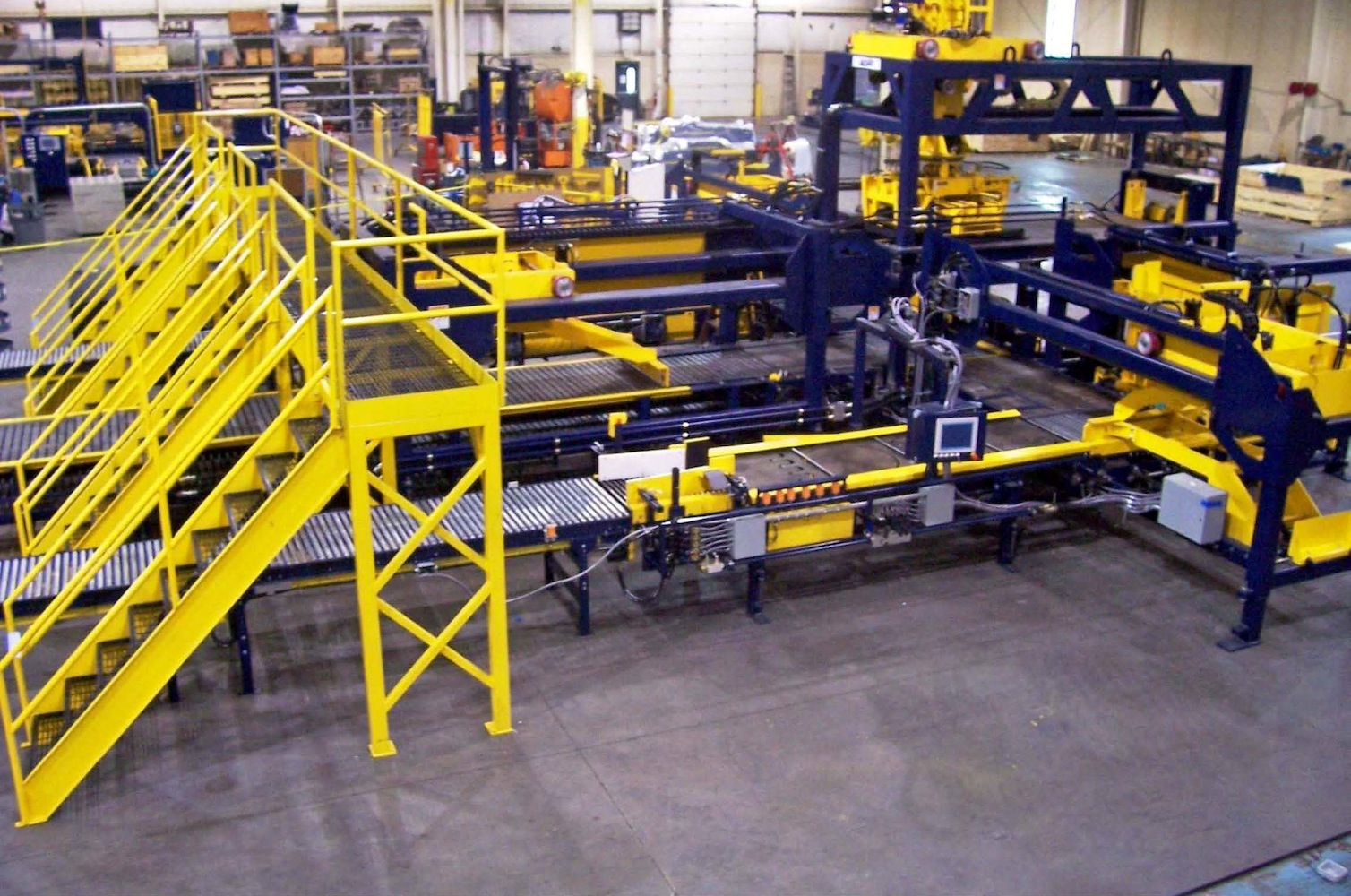 Machine Walkover With Stairs
