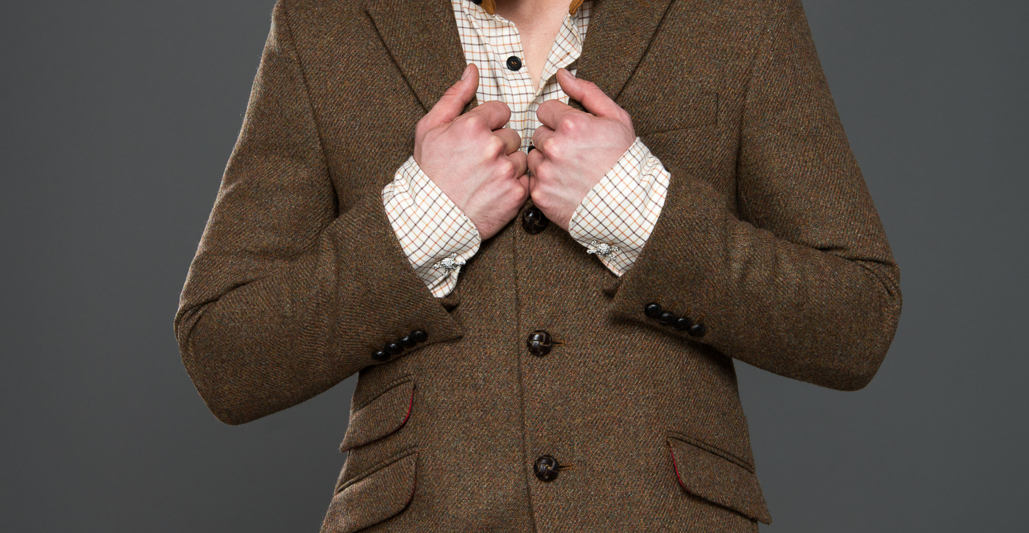 "Tweed from he original Worsted Alsport bunch made up our first collection, ""Hell for Leather""."