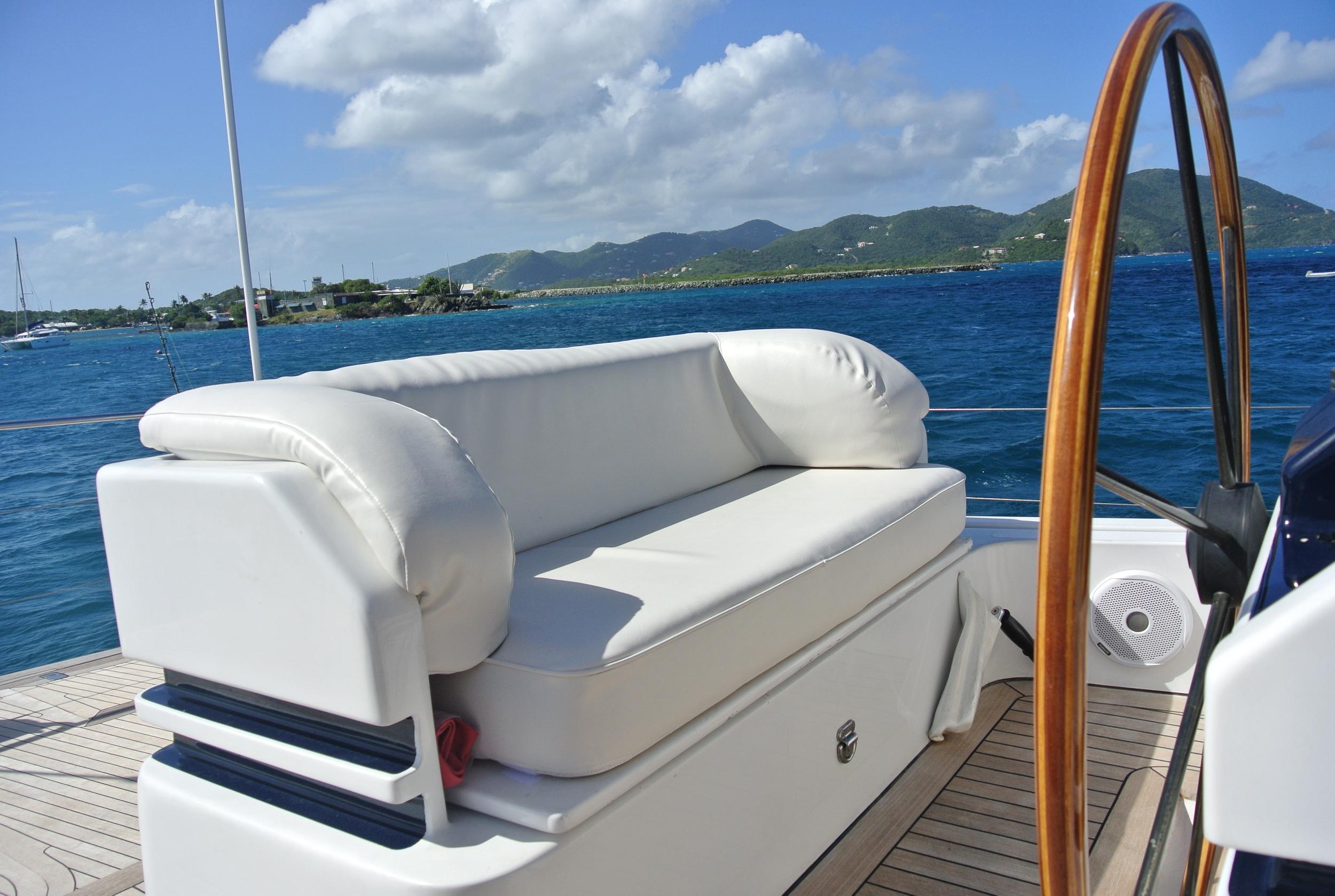 Boat cushions yacht upholstery by Maloney Interiors Rhode Island.JPG