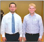 Andrew Harrigan, right, is pictured with Bobby Fisher, of Fisher Family Chiropractor in Mequon. Fisher said he has hired five or six of Harrigan's workers over the course of the year.