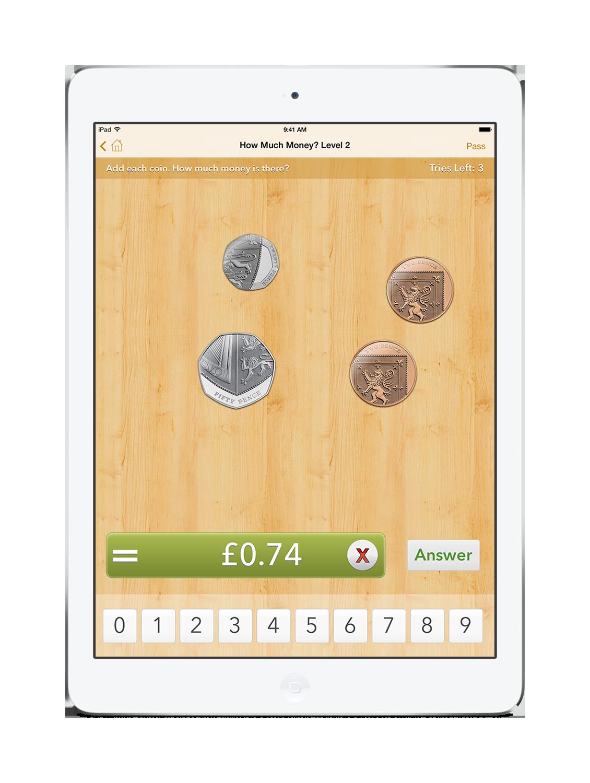 'How Much Money?' On an iPad mini