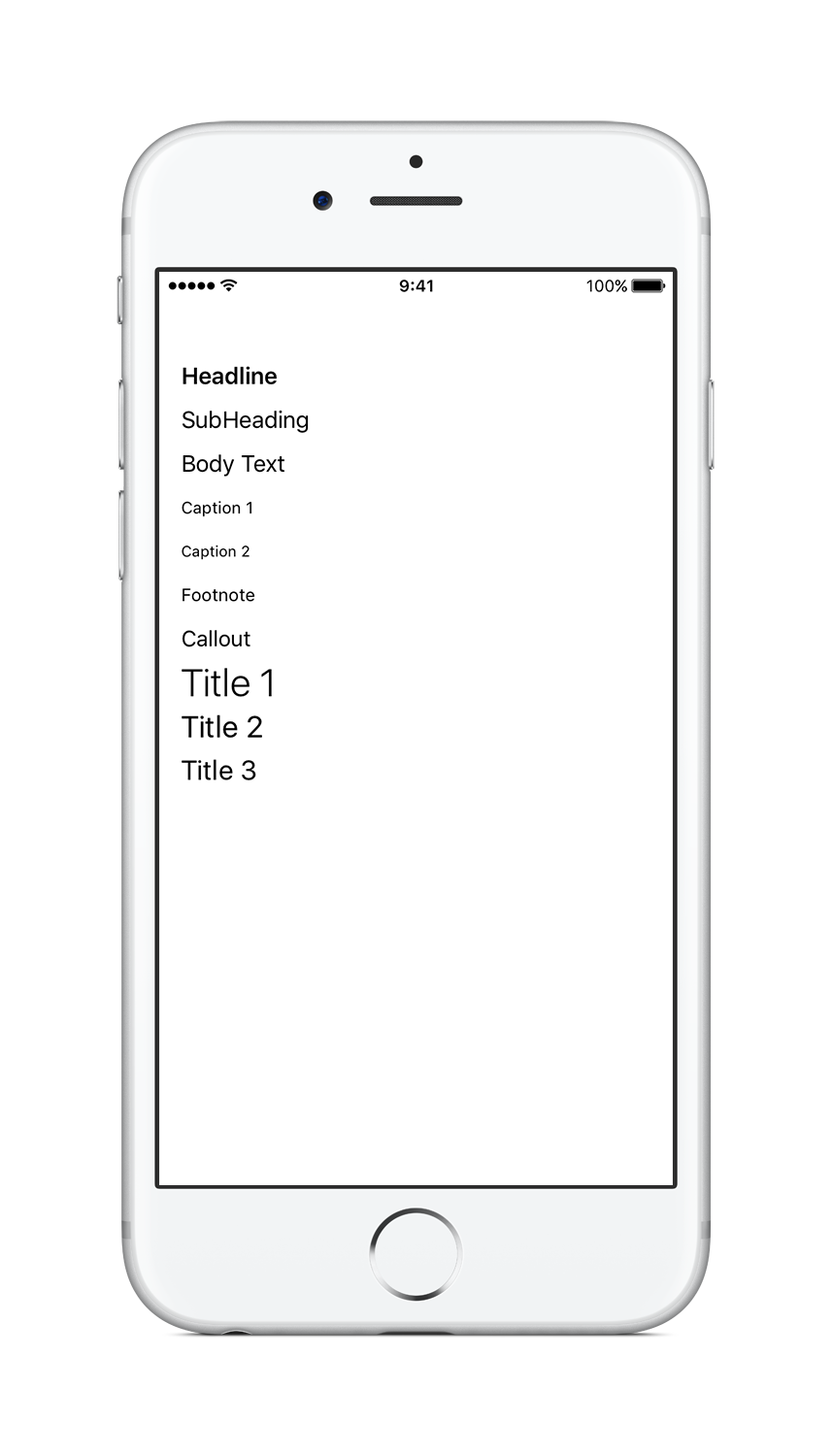 Text Styles in iOS 9