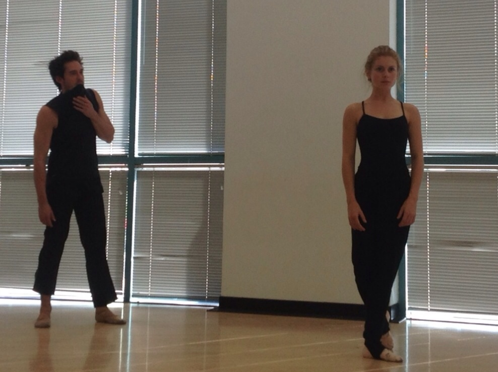 in ballet rehearsal with beautiful Rose McIver and Will Kemp     petals on the wind  | Lifetime