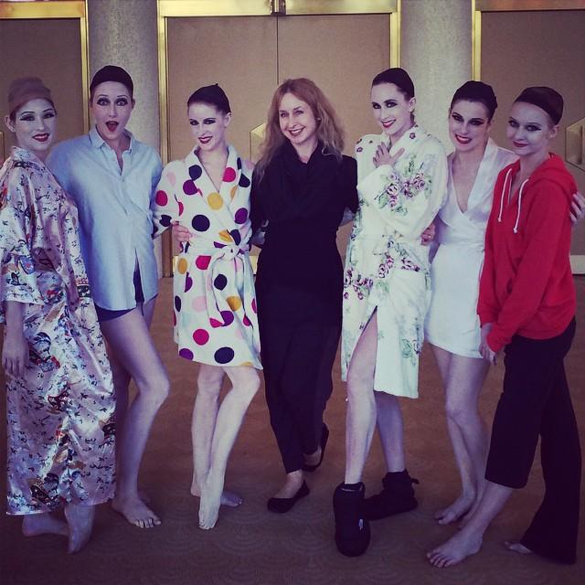 backstage with the girls     LA Opera |   la traviata