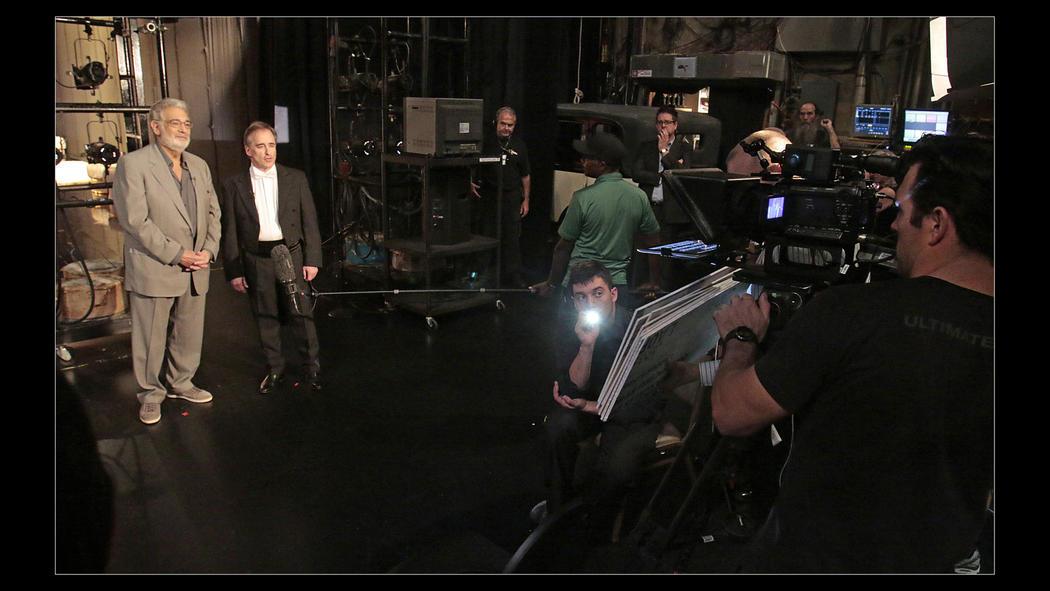 backstage with Placido Domingo and Maestro Conlin    LA Opera