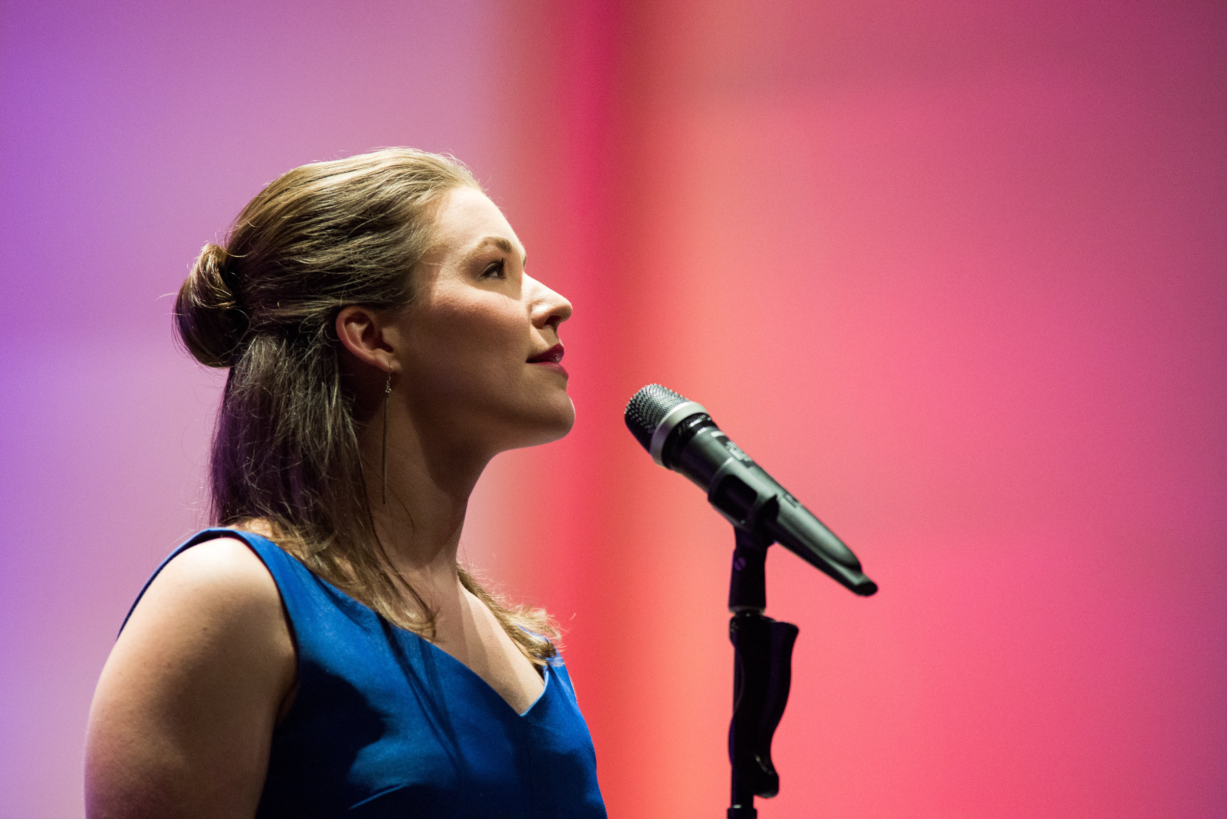 Caitlyn Caughell, Broadway Performer, Singing with the Bartlesville Symphony in 2016