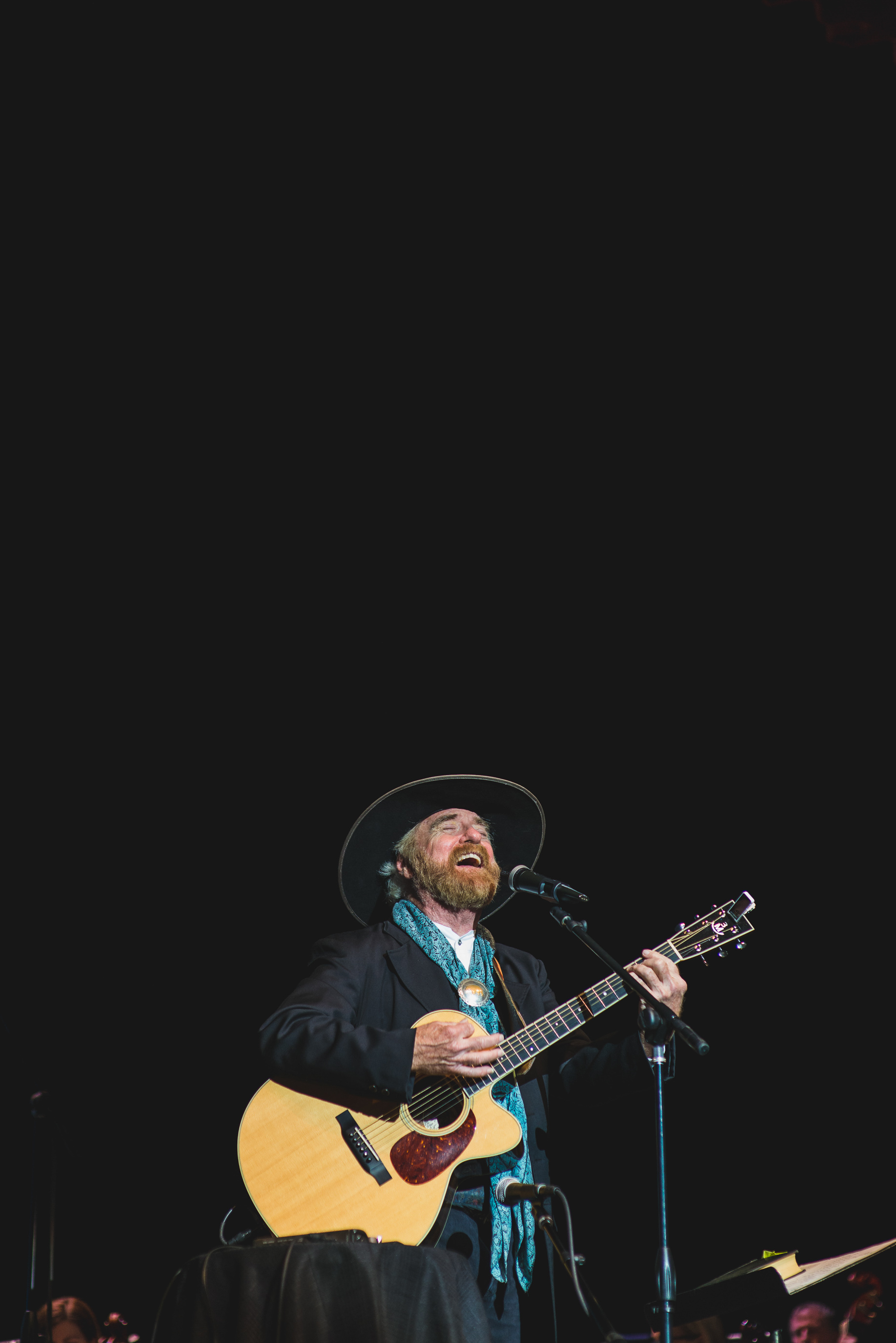 Michael Martin Murphey performing with the BSO, 2017