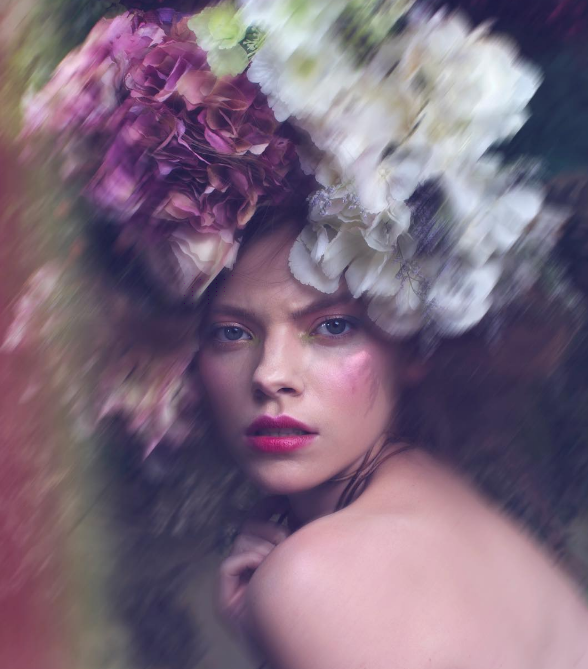 May Queen campaign imagery for Illamasqua