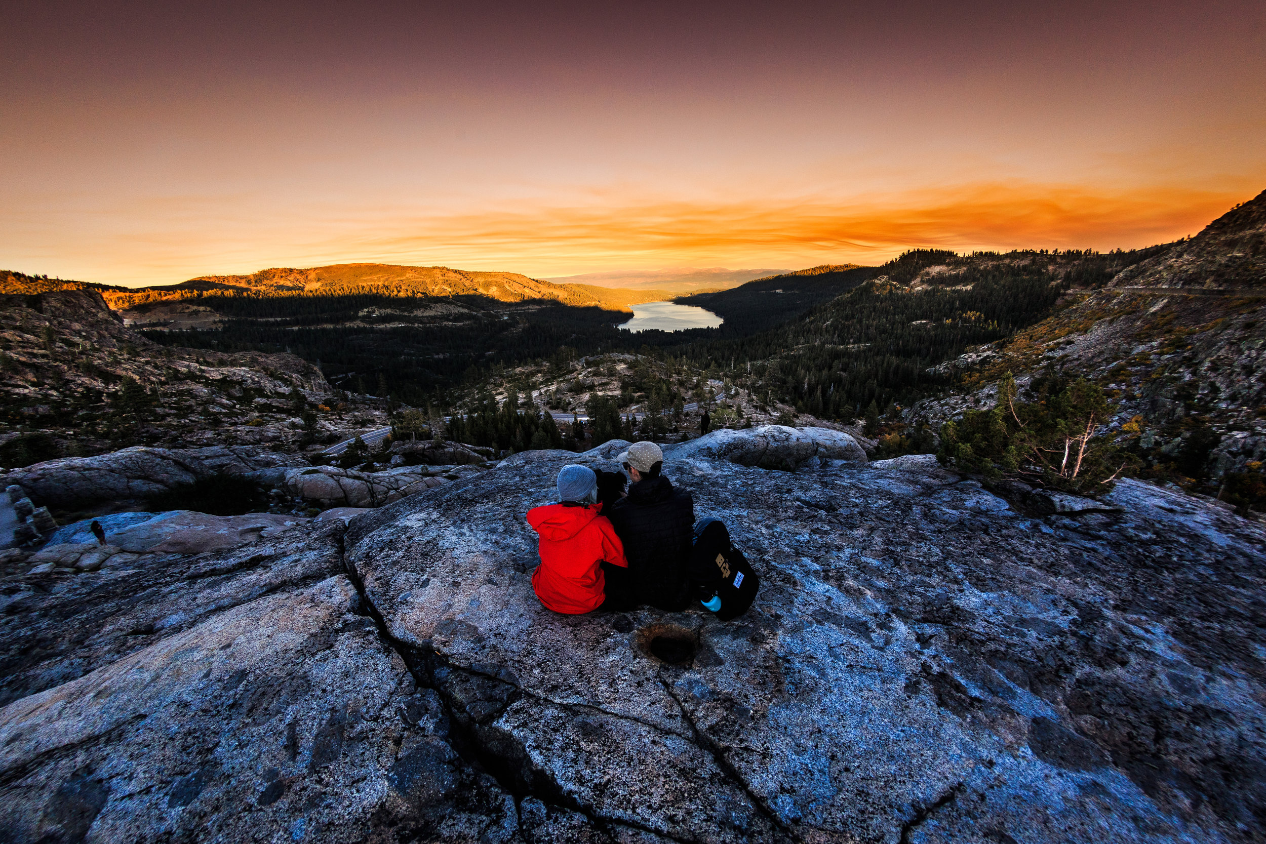 Overlooking a beautiful sunset on Donner Pass. 2017
