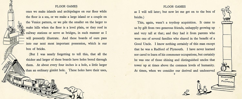 Floor Games , by H.G. Wells, drawings by J.R. Sinclair