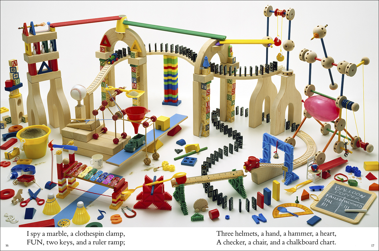 Levers,Ramps, and Pulleys,  from  I SPY School Days  (1995), Photographs by Walter Wick, Riddles by Jean Marzollo